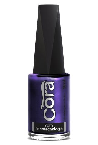 Esmalte Cora 9ml Black Azul 35