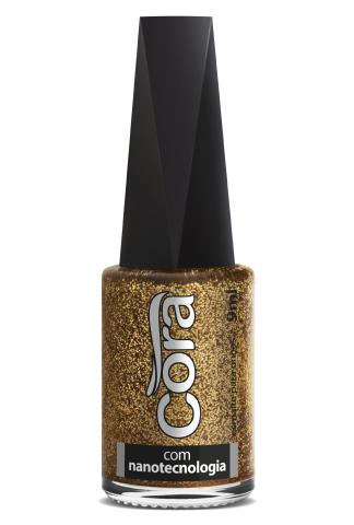 Esmalte Cora 9ml POP Glitter Golden Perfect