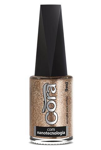 Esmalte Cora 9ml Top Glitter Cometa