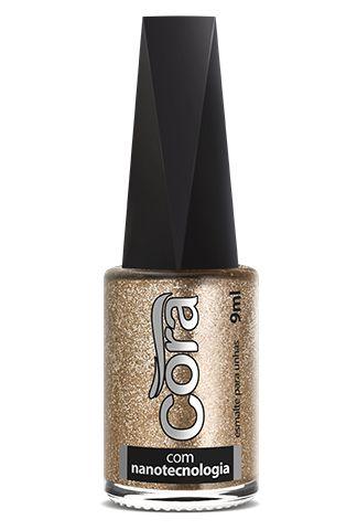Esmalte Cora 9ml Top Glitter Meteoro