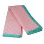 Colcha solteiro verde água e rosa algodão doce
