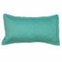 Porta travesseiro matelassê verde água e rosa algodão doce