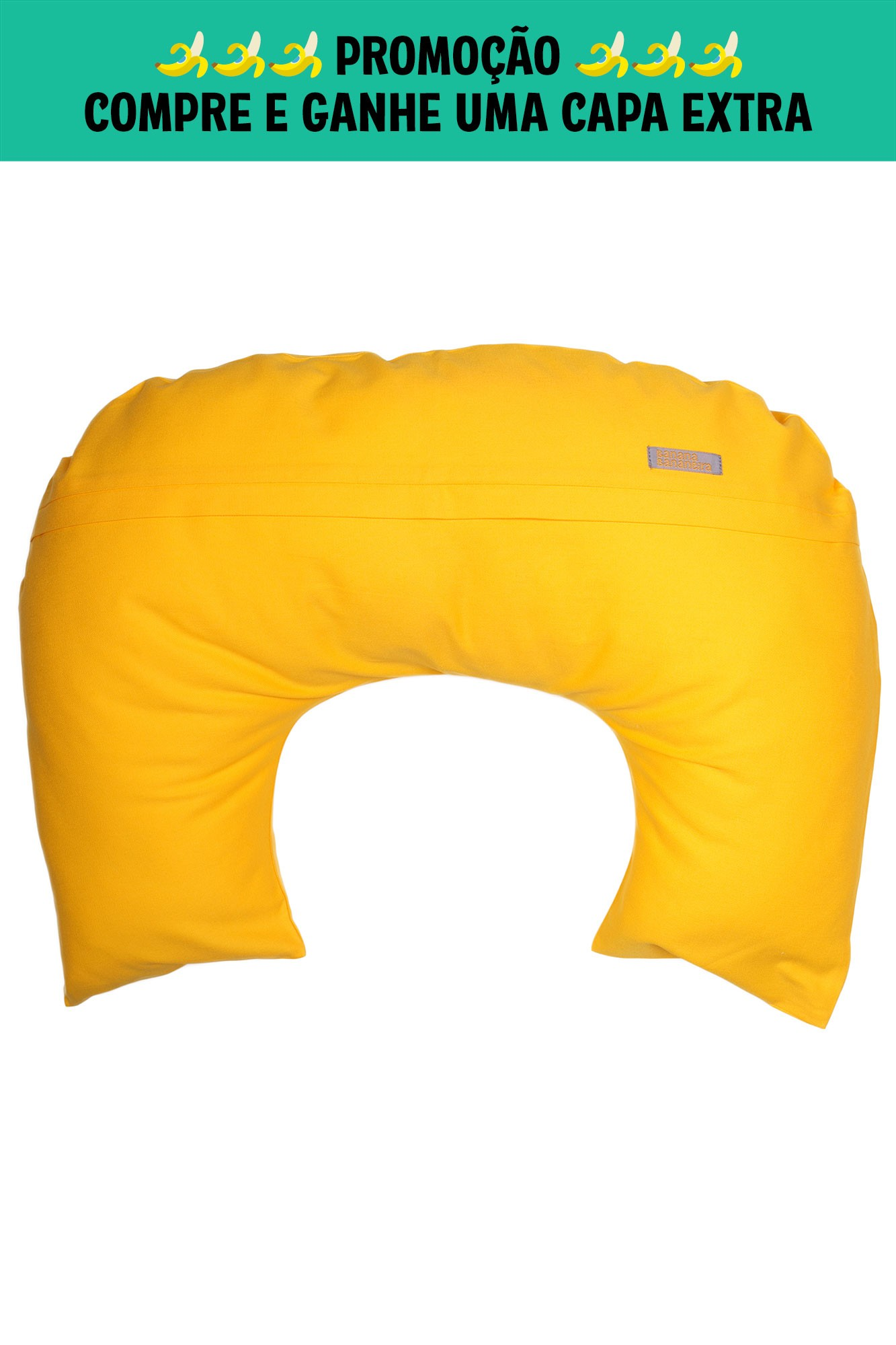 Almofada de amamentação amarela