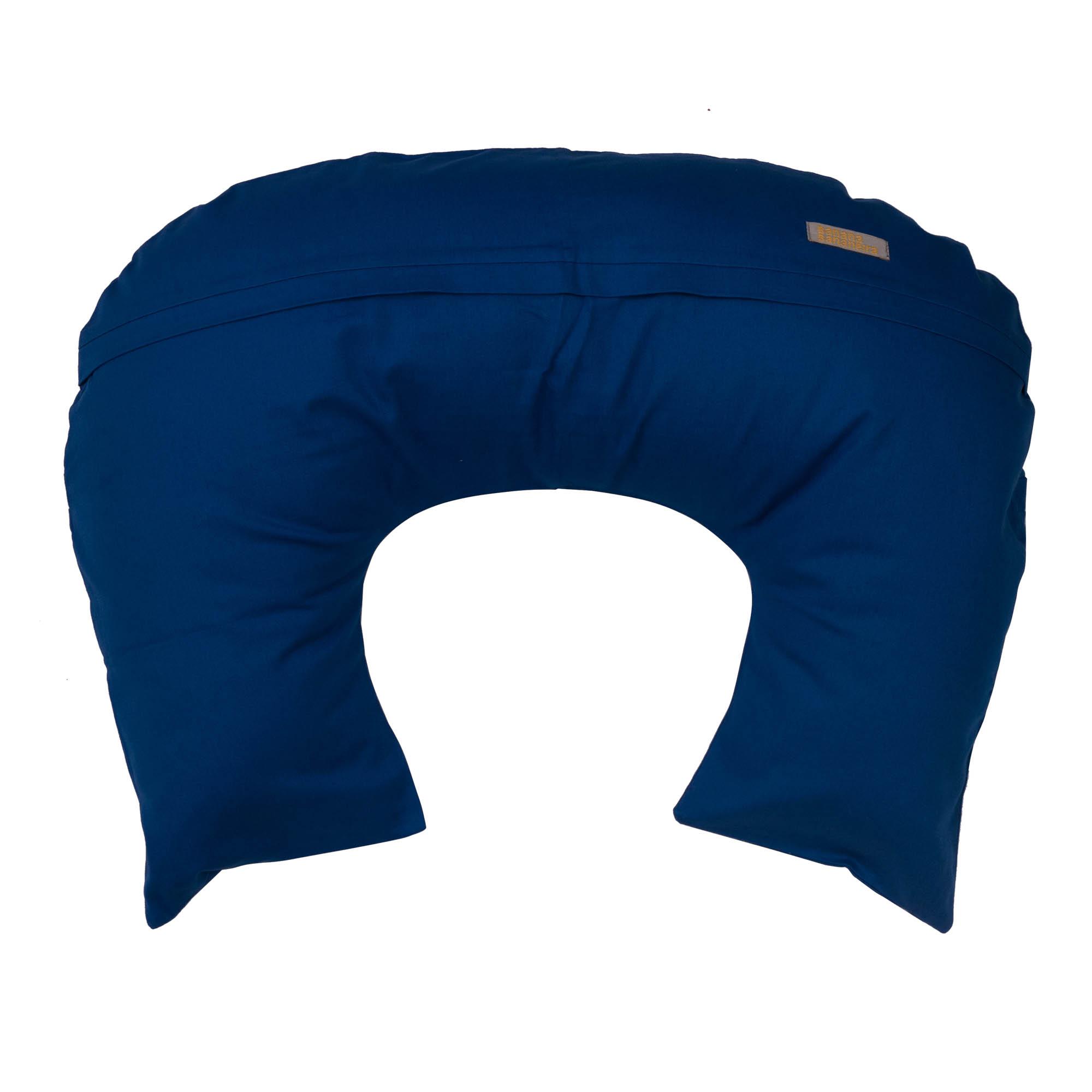 Almofada de amamentação azul clássico