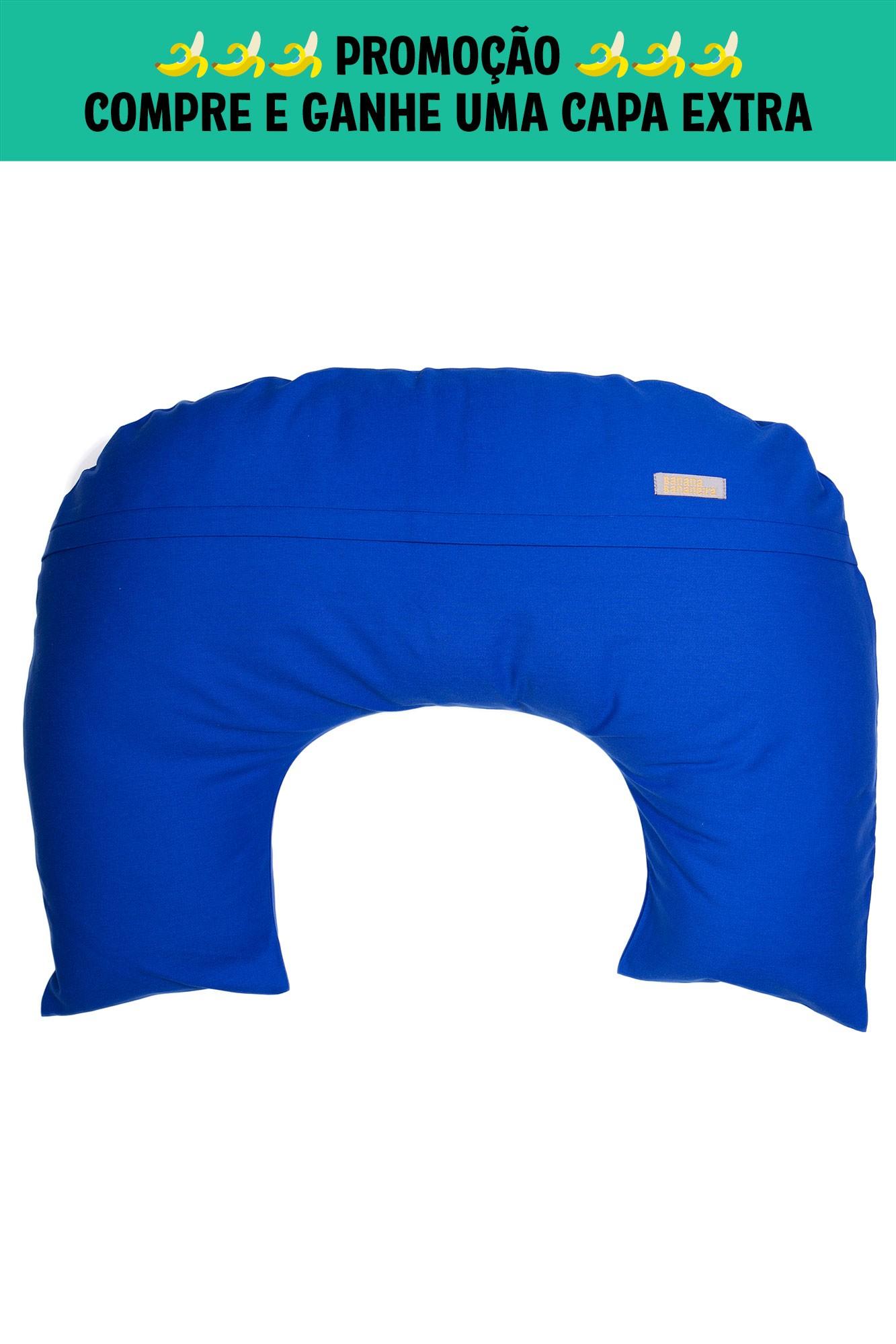 Almofada de amamentação azul royal
