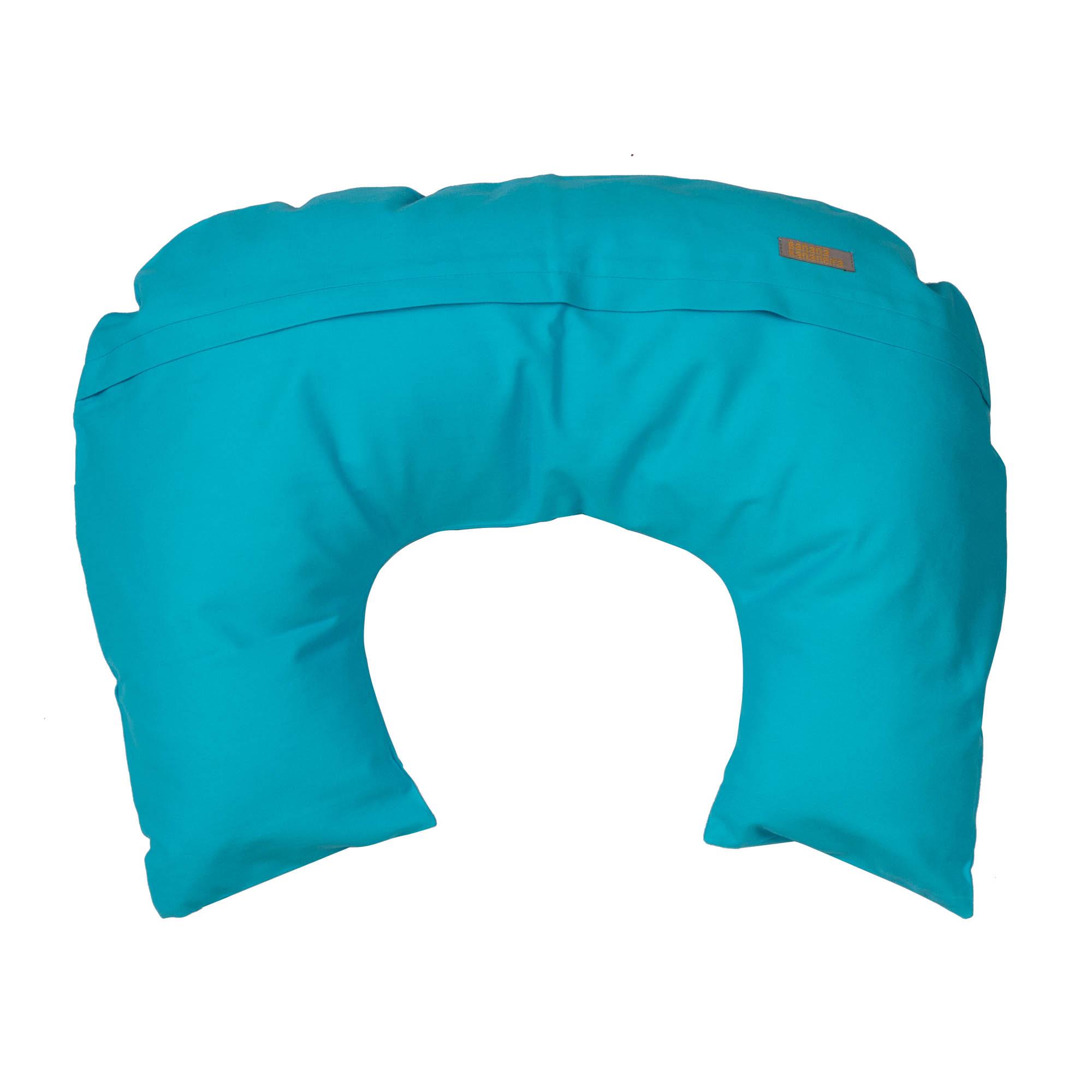 Almofada de amamentação azul turquesa
