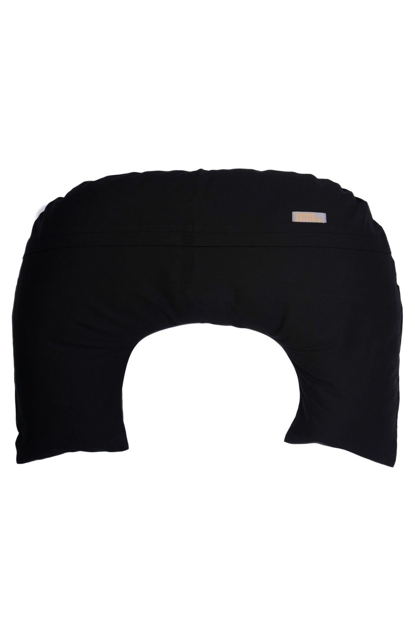 Almofada de amamentação preta