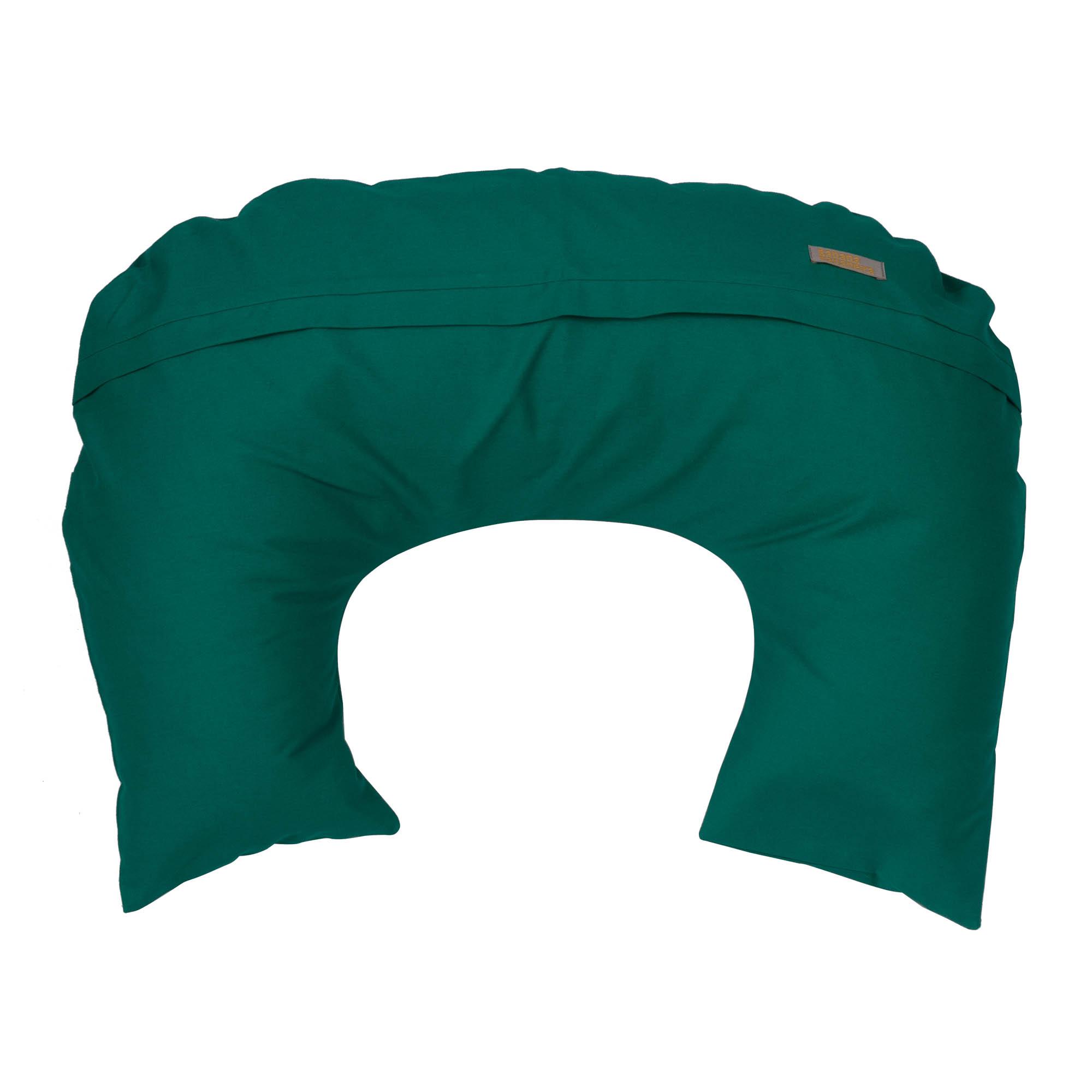 Almofada de amamentação verde esmeralda