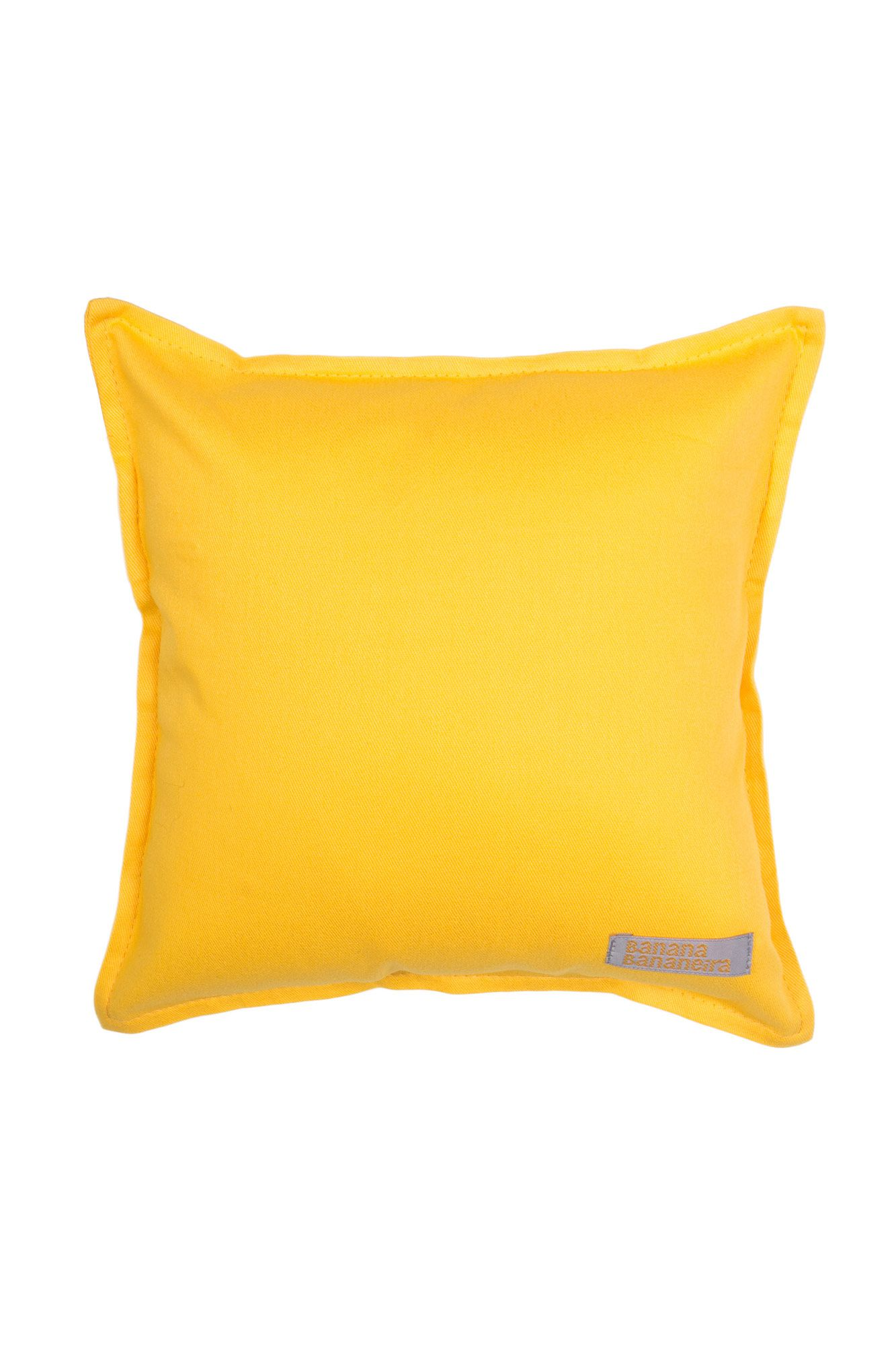 Almofada em pesponto 25 cm x 25 cm amarela