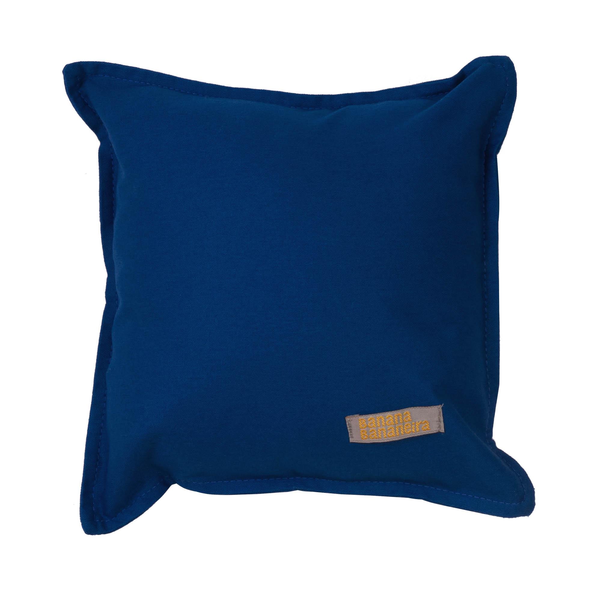 Almofada em pesponto 25 cm x 25 cm azul clássico