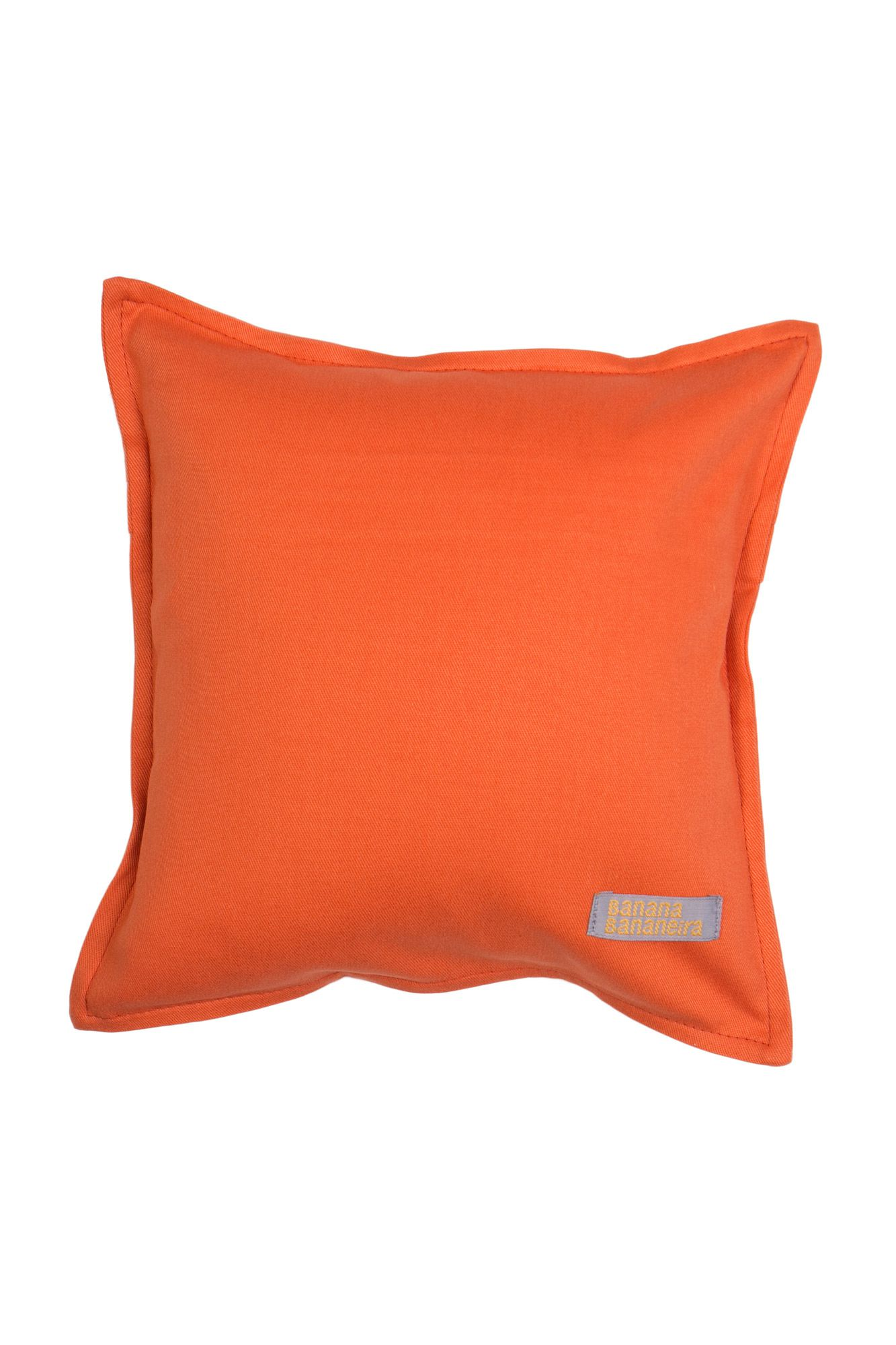 Almofada em pesponto 25 cm x 25 cm laranja