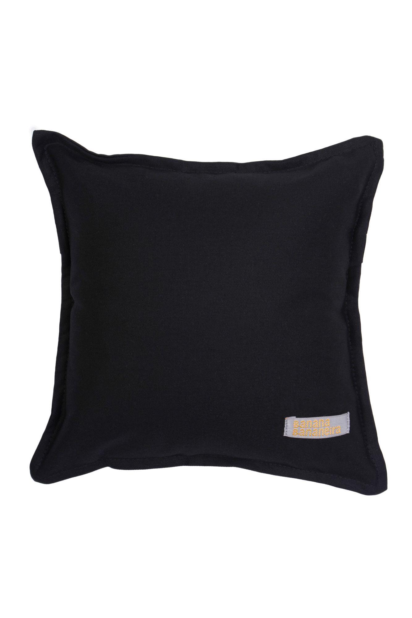 Almofada em pesponto 25 cm x 25 cm preta