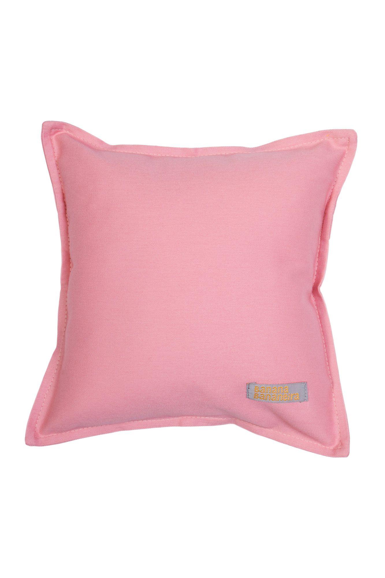 Almofada em pesponto 25 cm x 25 cm rosa