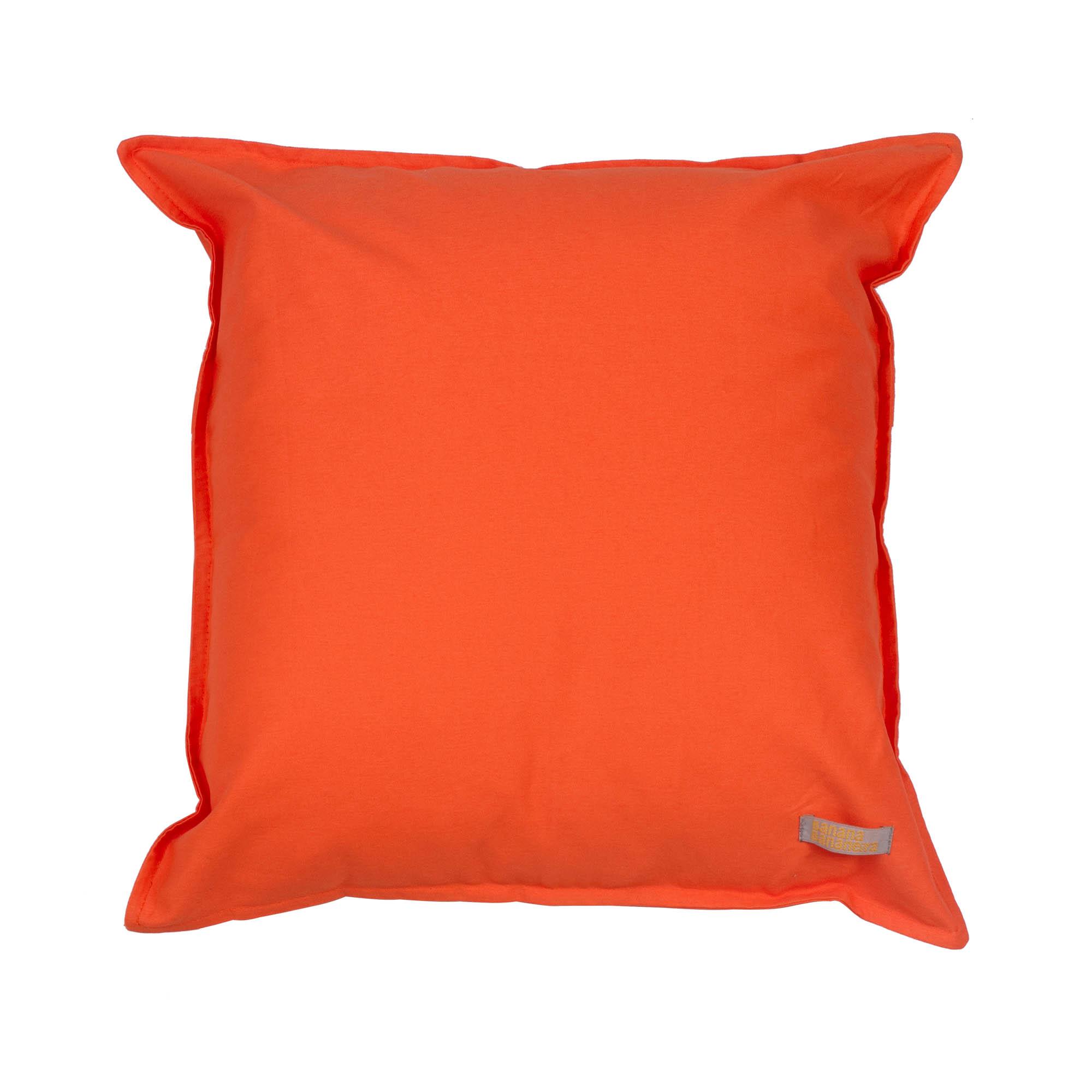 Almofada em pesponto 25 cm x 25 cm tangerina