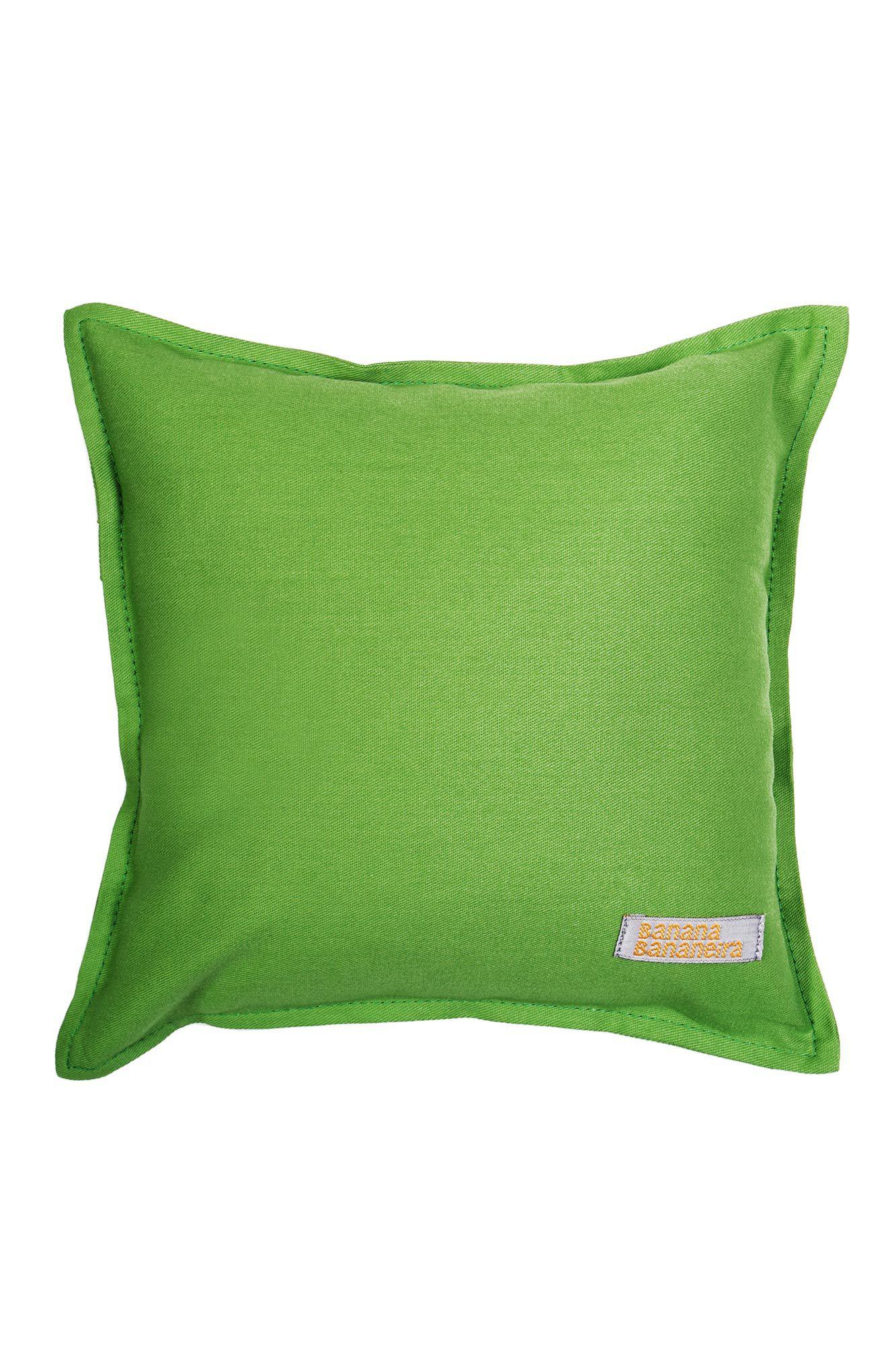 Almofada em pesponto 25 cm x 25 cm verde