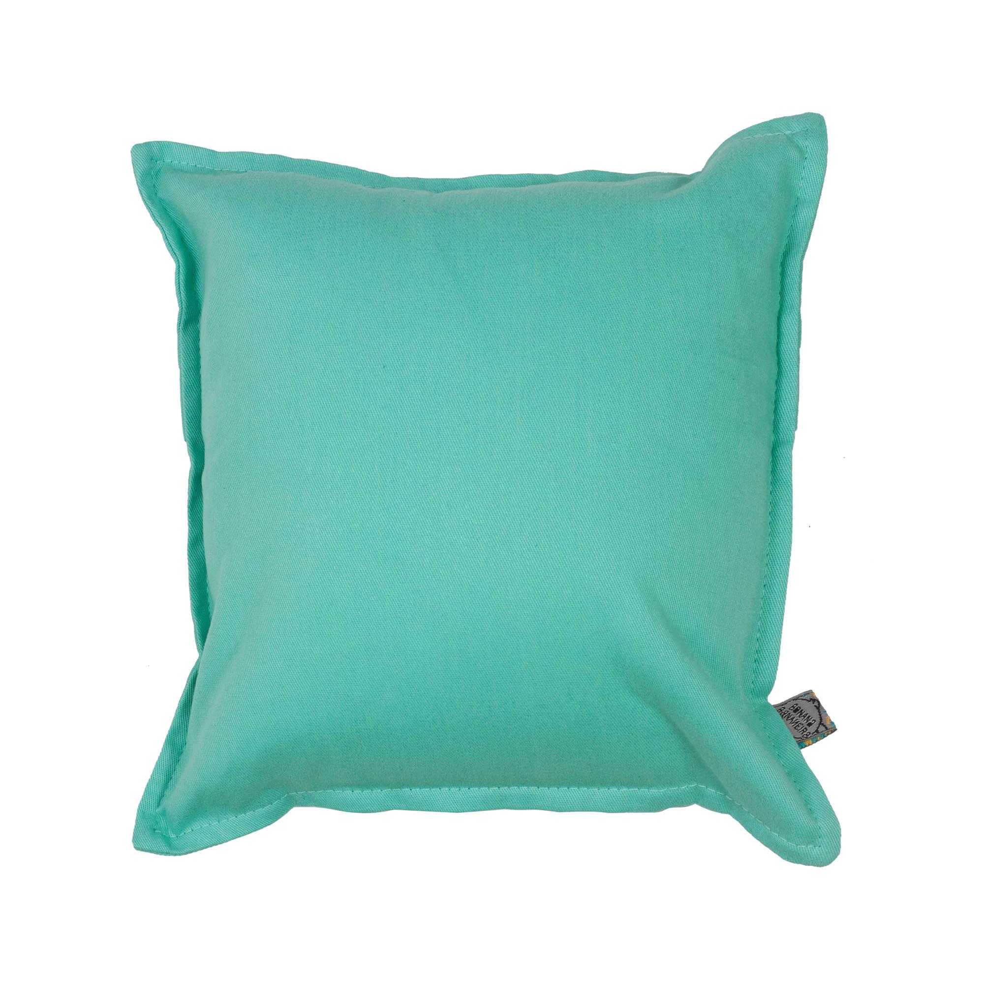 Almofada em pesponto 25 cm x 25 cm verde água