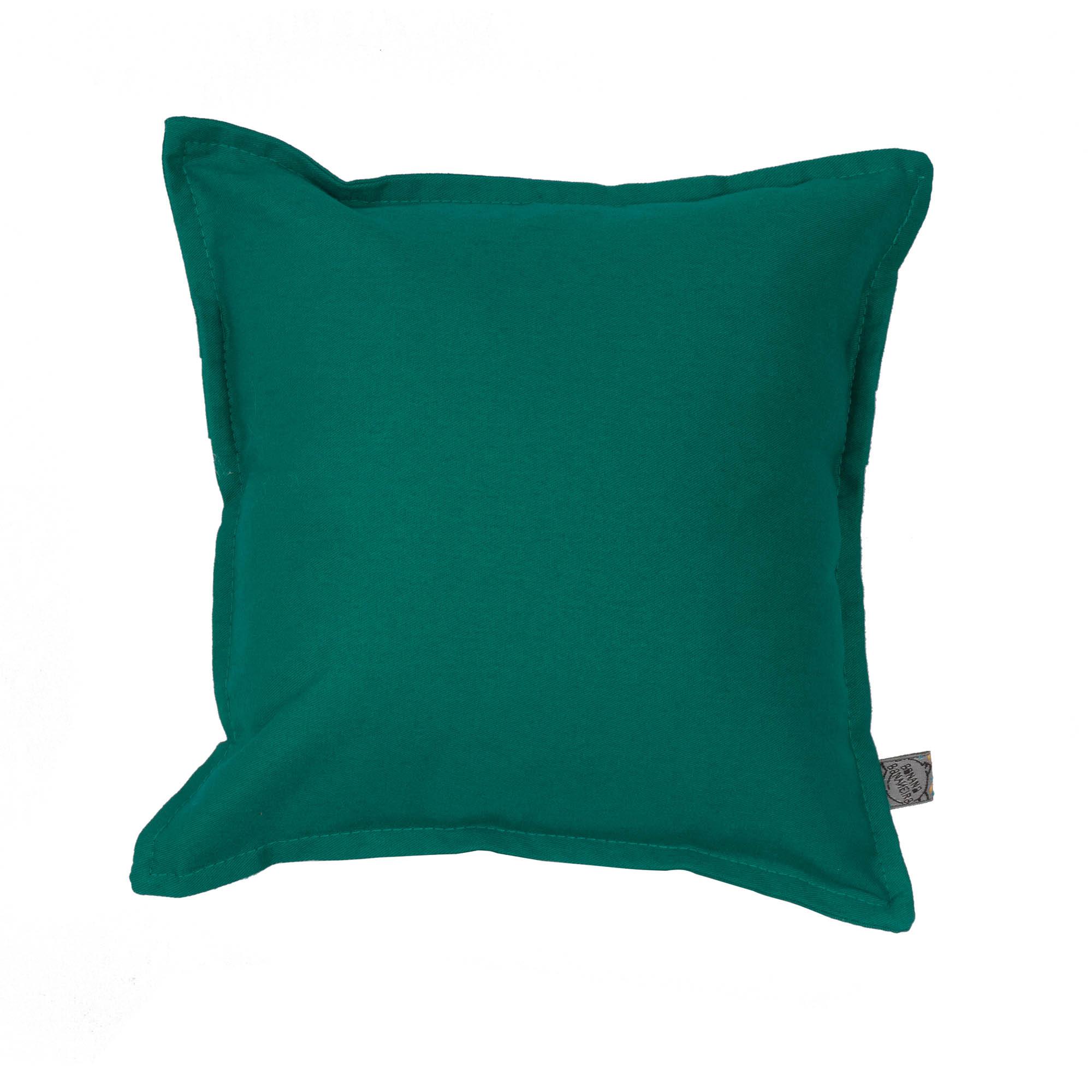 Almofada em pesponto 25 cm x 25 cm verde esmeralda