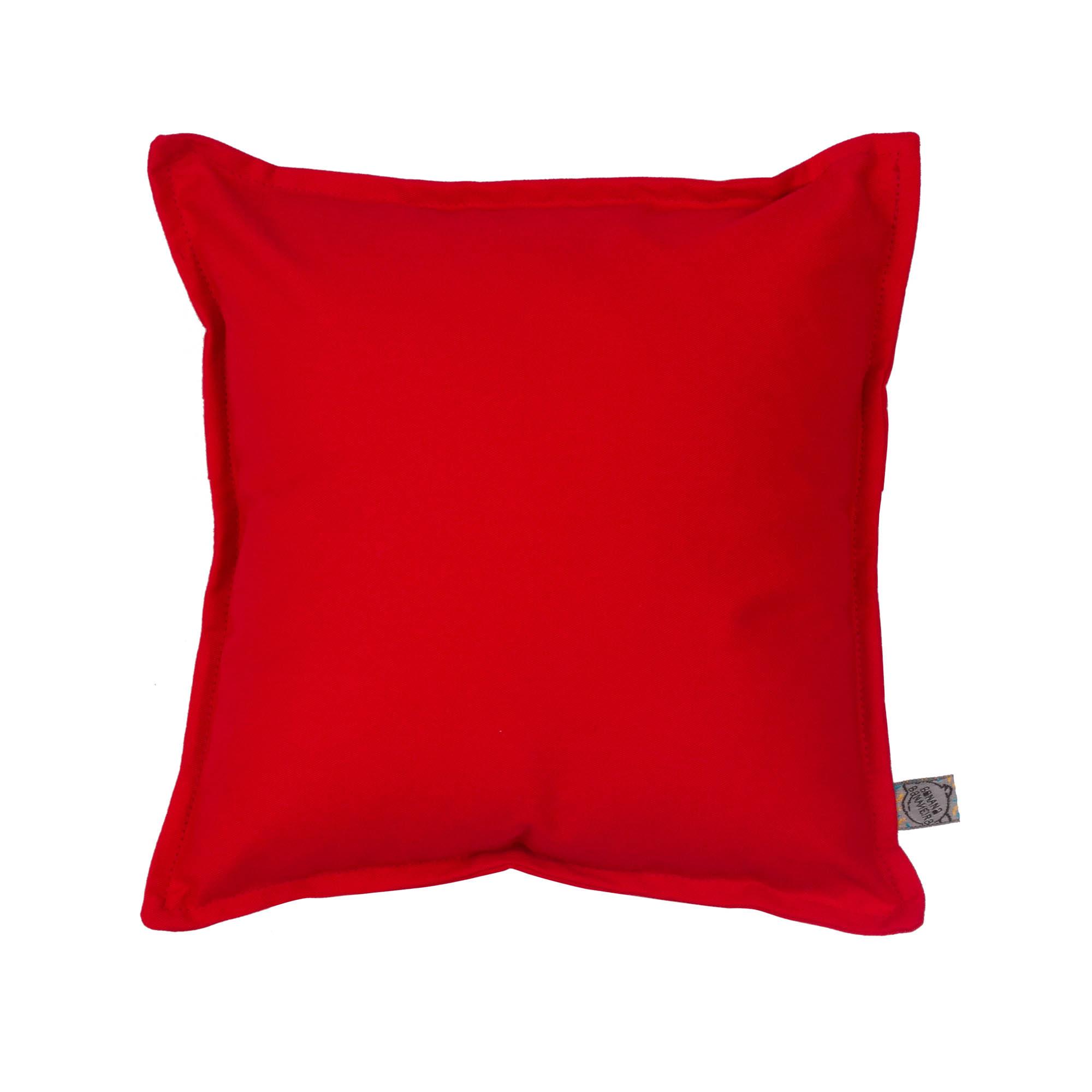 Almofada em pesponto 25 cm x 25 cm vermelha