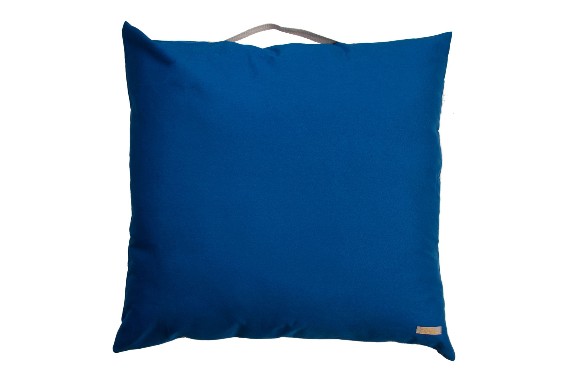 Almofadão pufe azul clássico