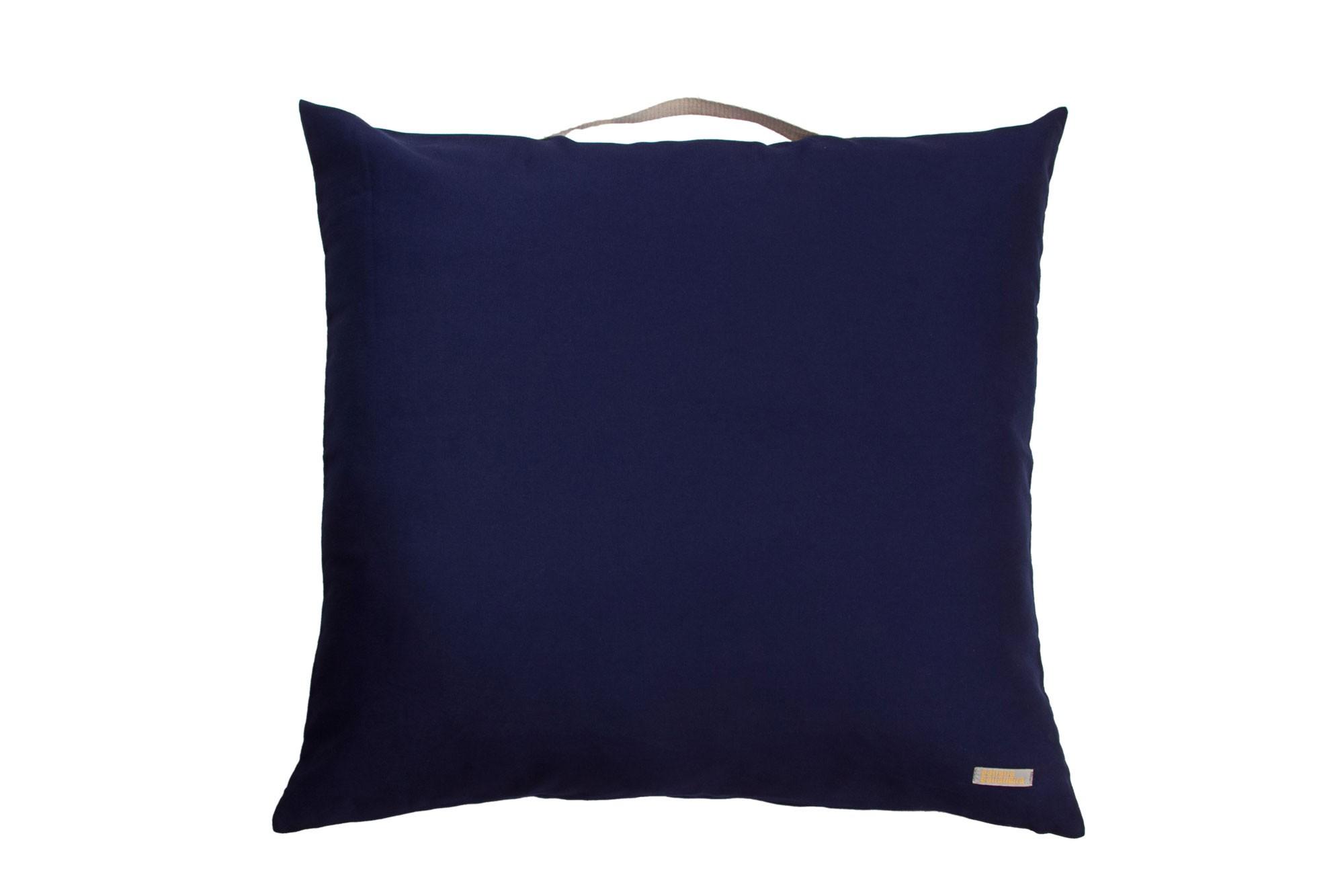 Almofadão pufe azul marinho