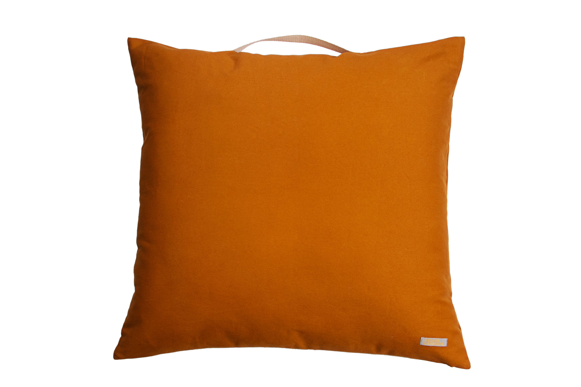 Almofadão pufe laranja