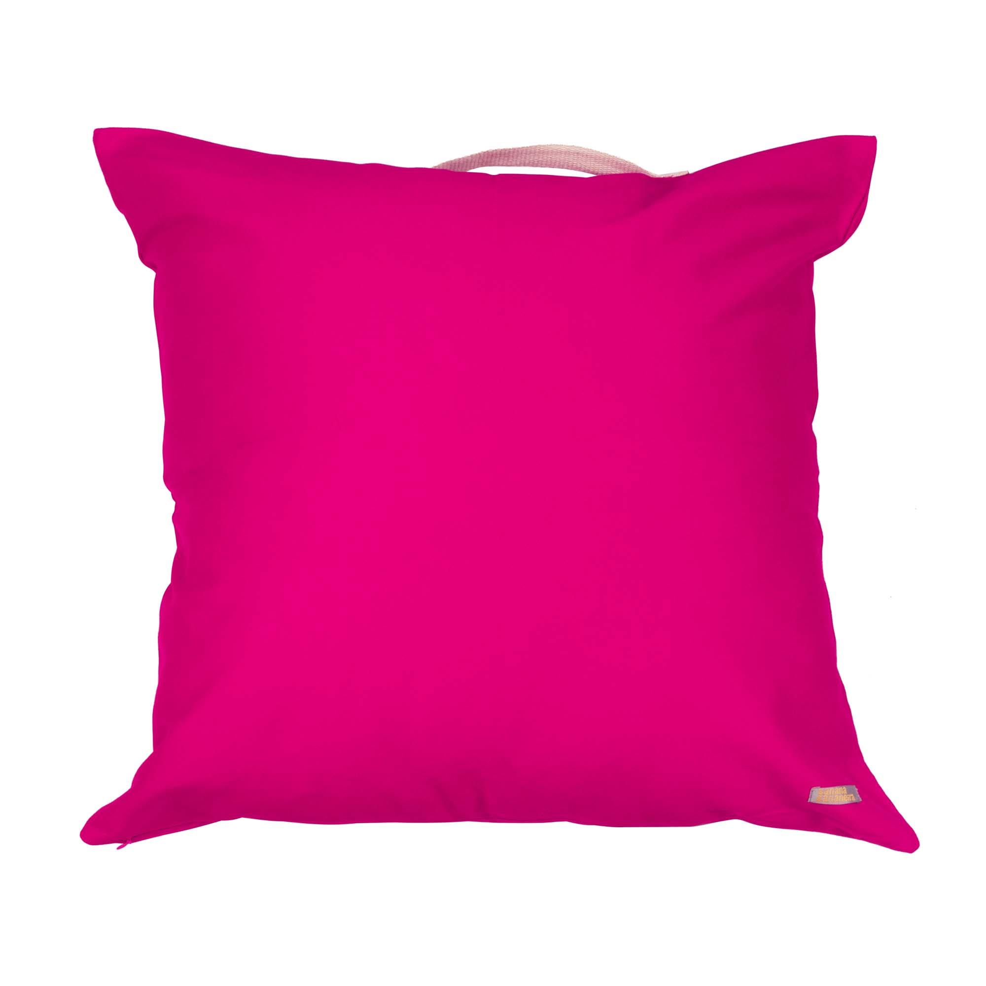 Almofadão pufe pink