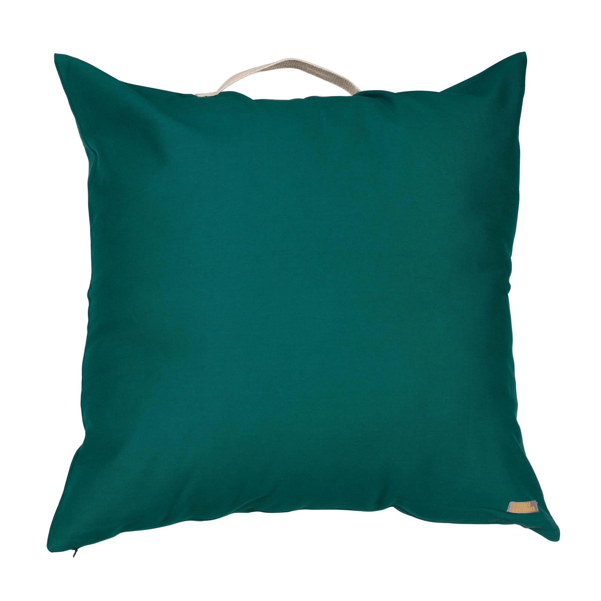 Almofadão pufe verde esmeralda