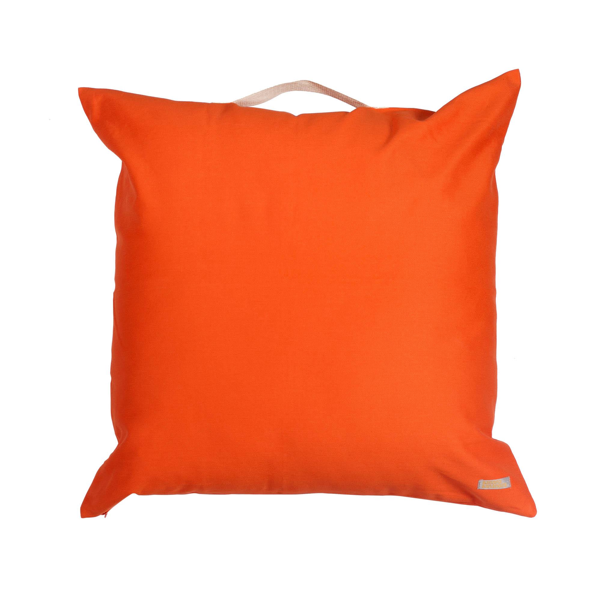 Almofadão pufe tangerina