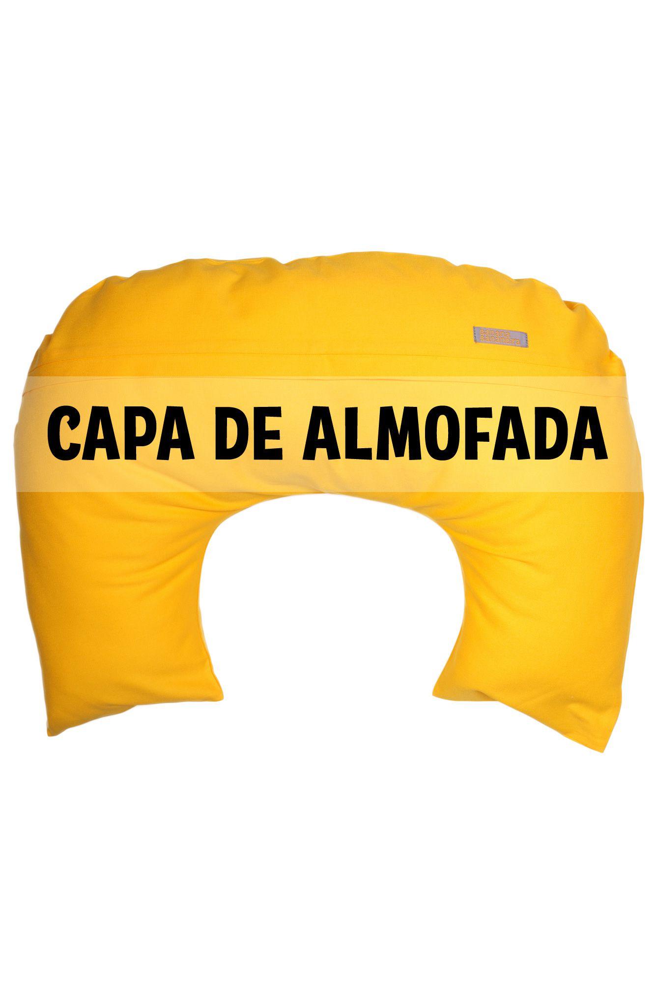 Capa de almofada de amamentação amarela