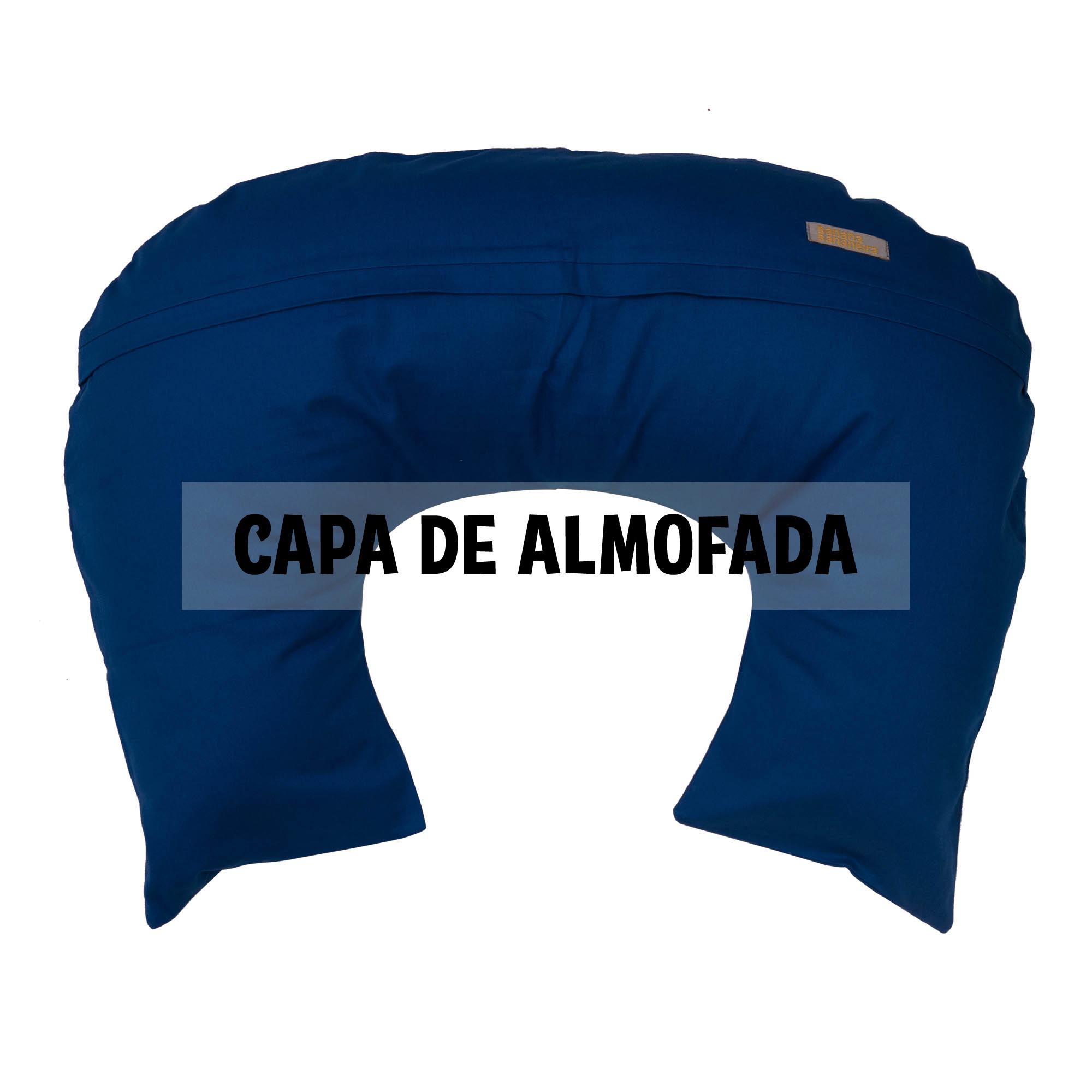Capa de almofada de amamentação azul clássico