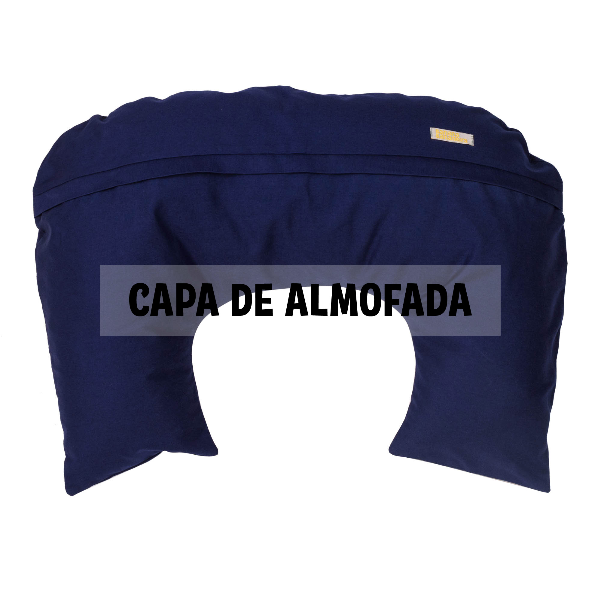 Capa de almofada de amamentação azul marinho