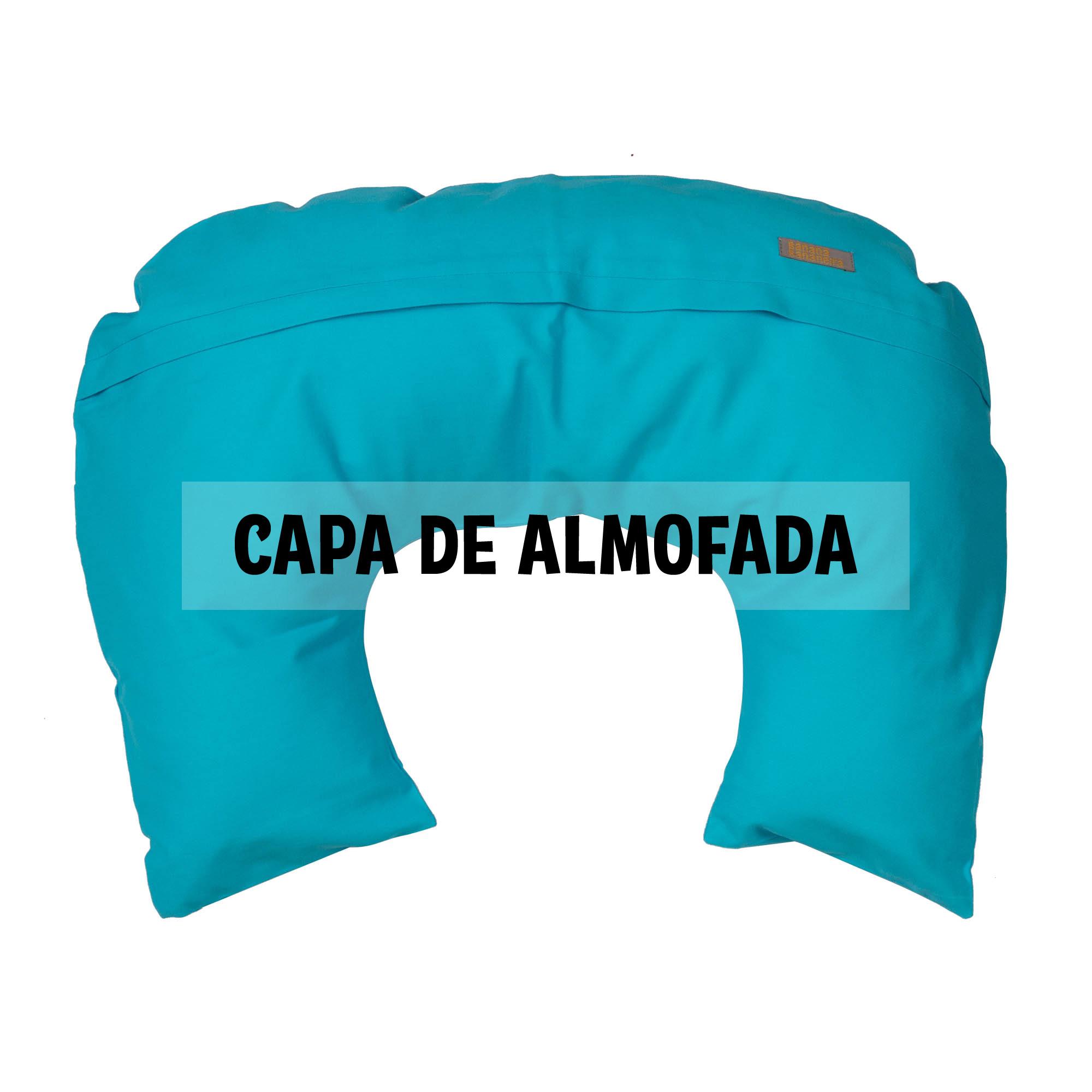 Capa de almofada de amamentação azul turquesa