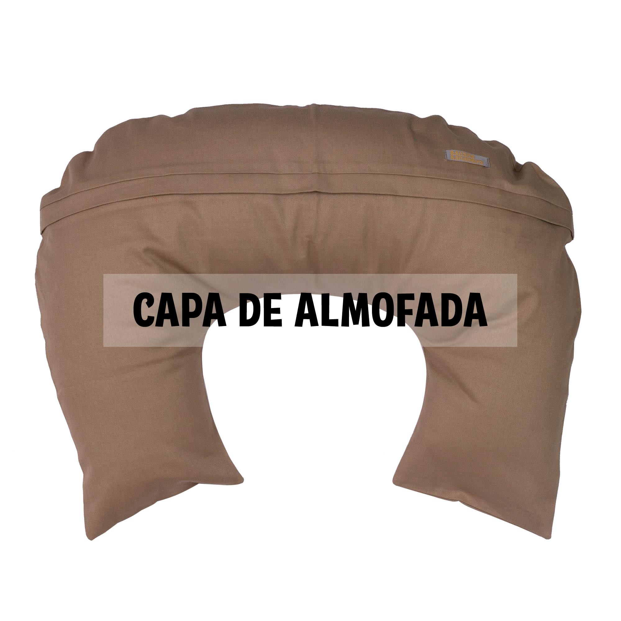 Capa de almofada de amamentação capuccino