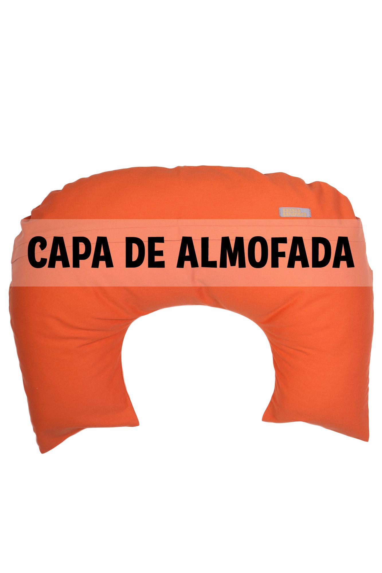 Capa de almofada de amamentação laranja