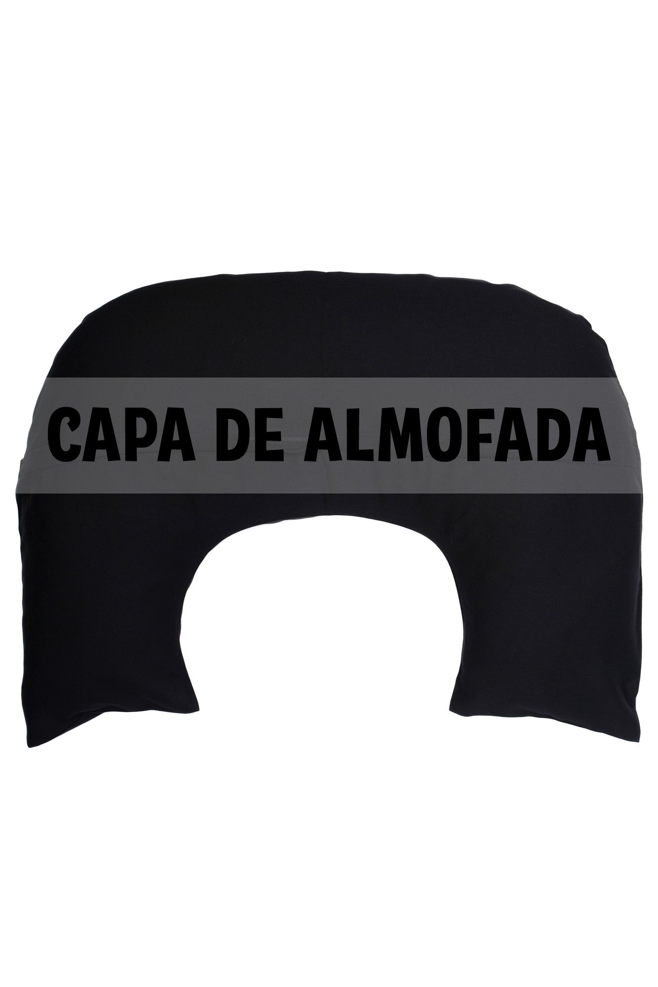 Capa de almofada de amamentação preta