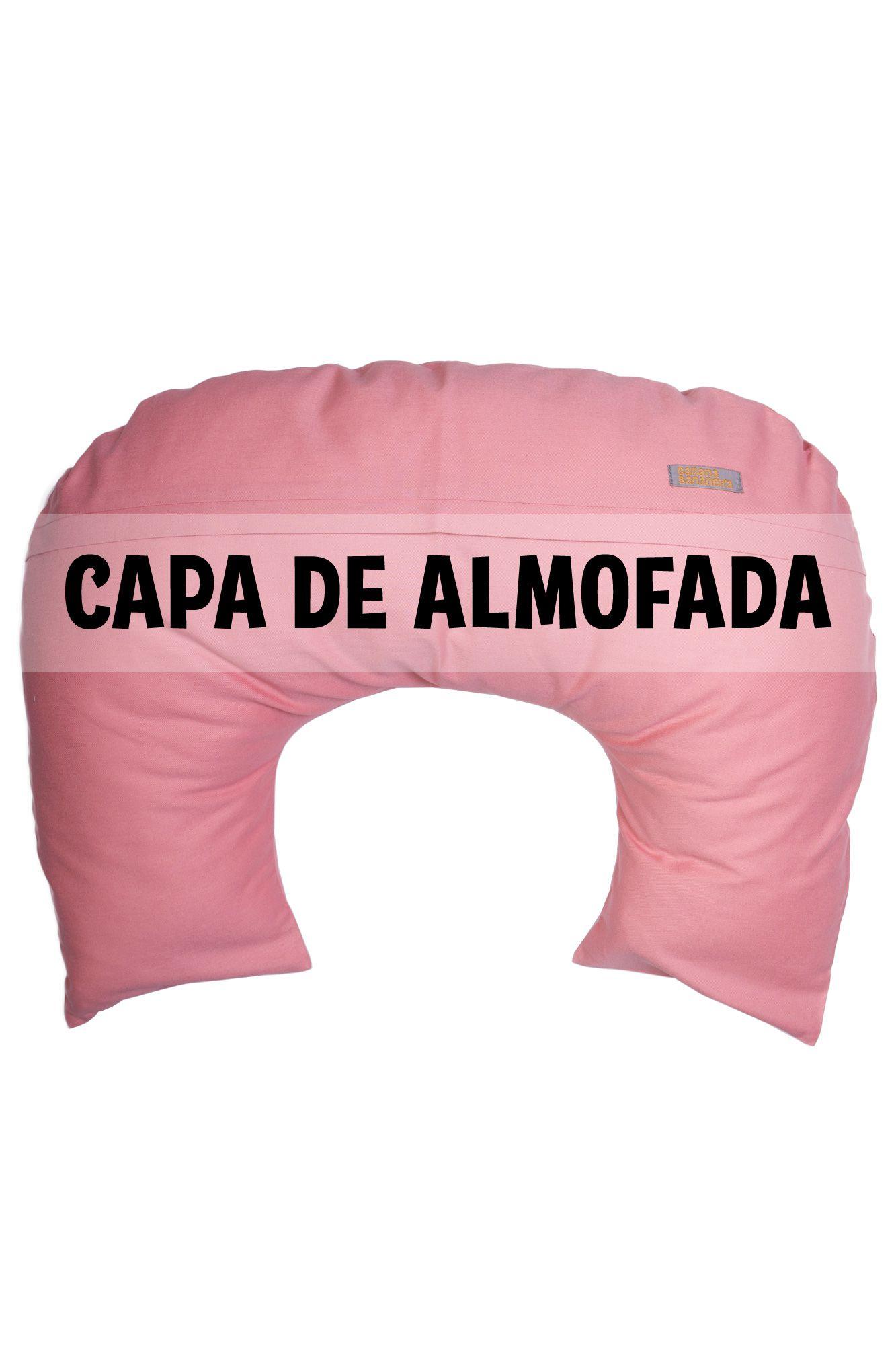 Capa de almofada de amamentação rosa