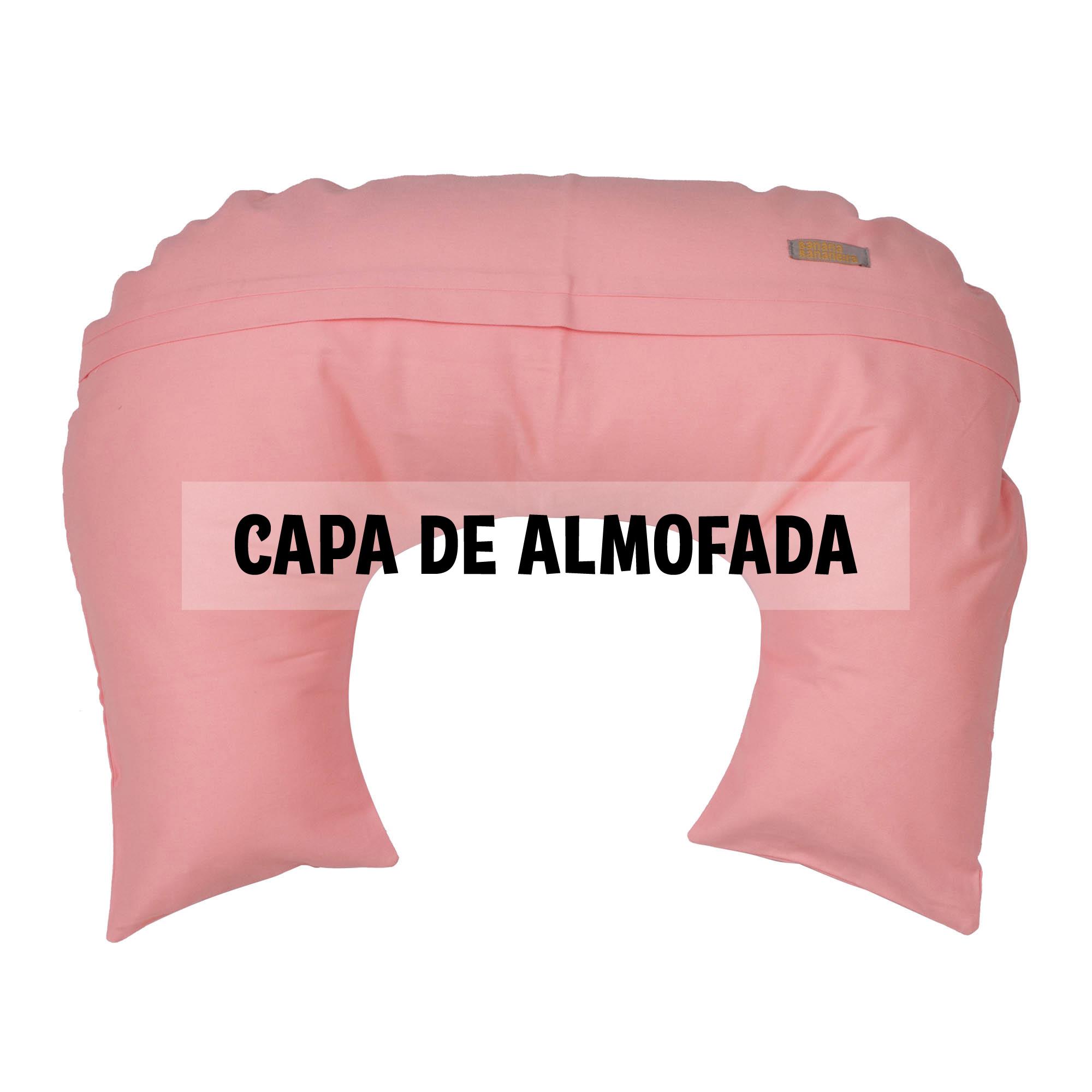 Capa de almofada de amamentação rosa algodão doce