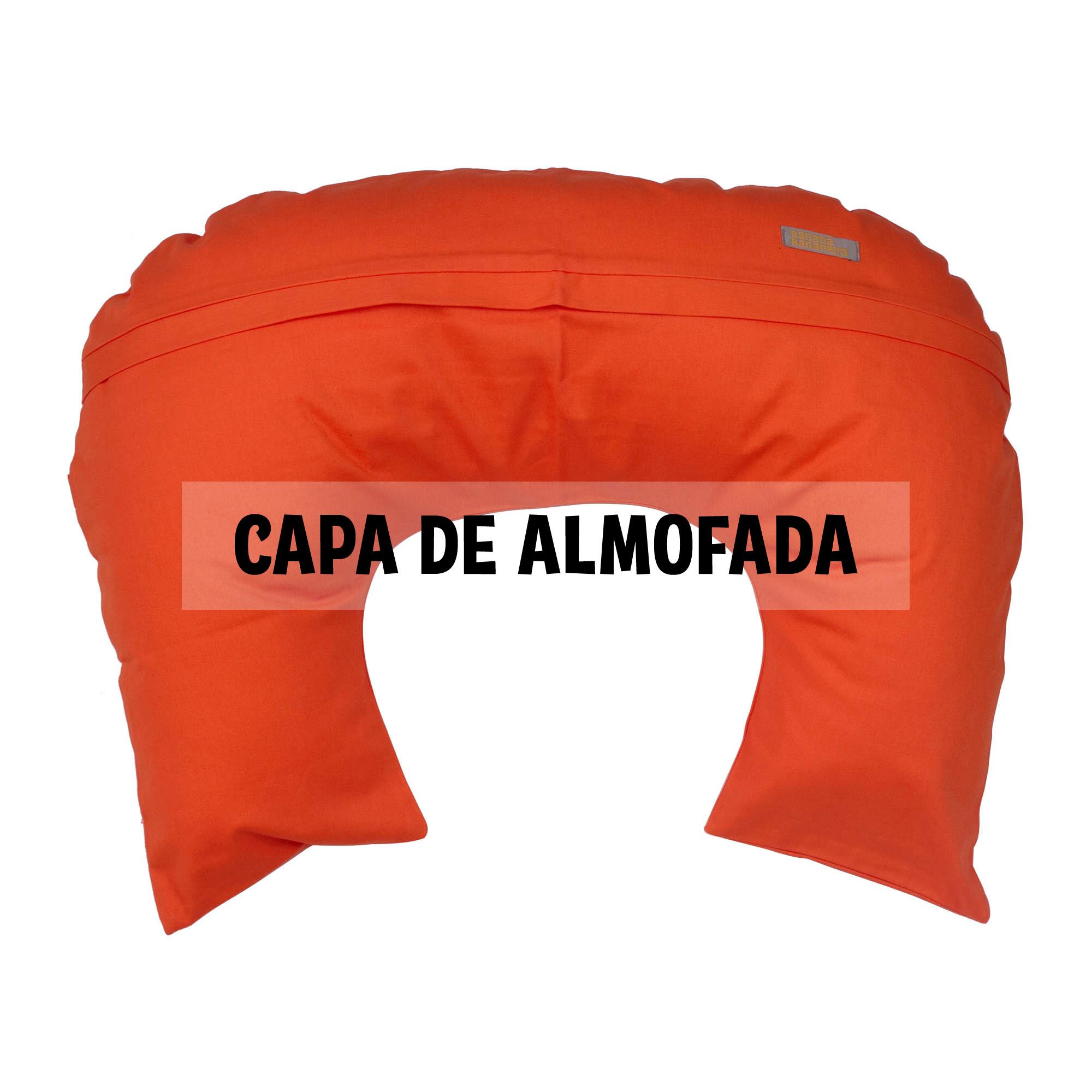 Capa de almofada de amamentação tangerina