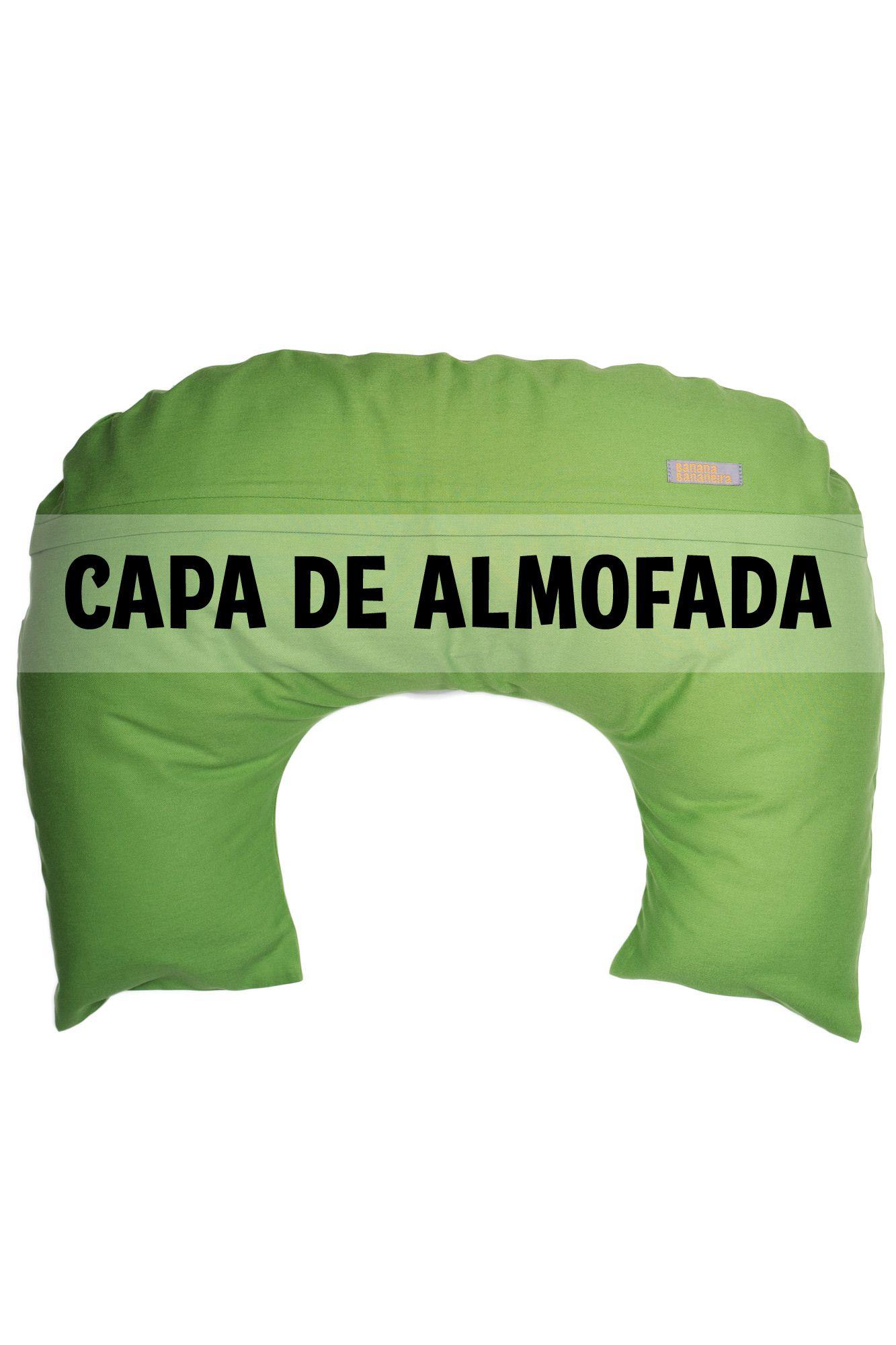 Capa de almofada de amamentação verde