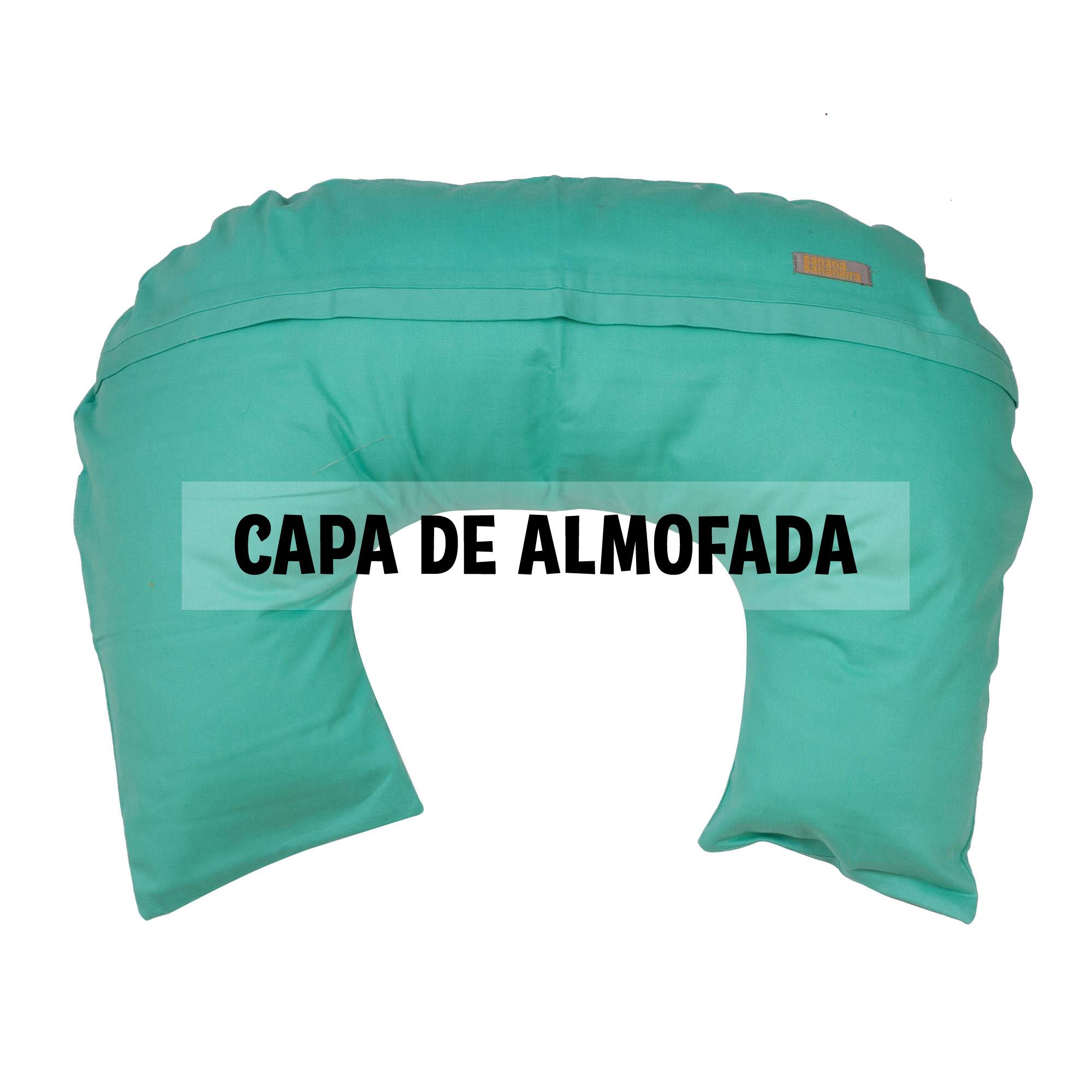 Capa de almofada de amamentação verde água