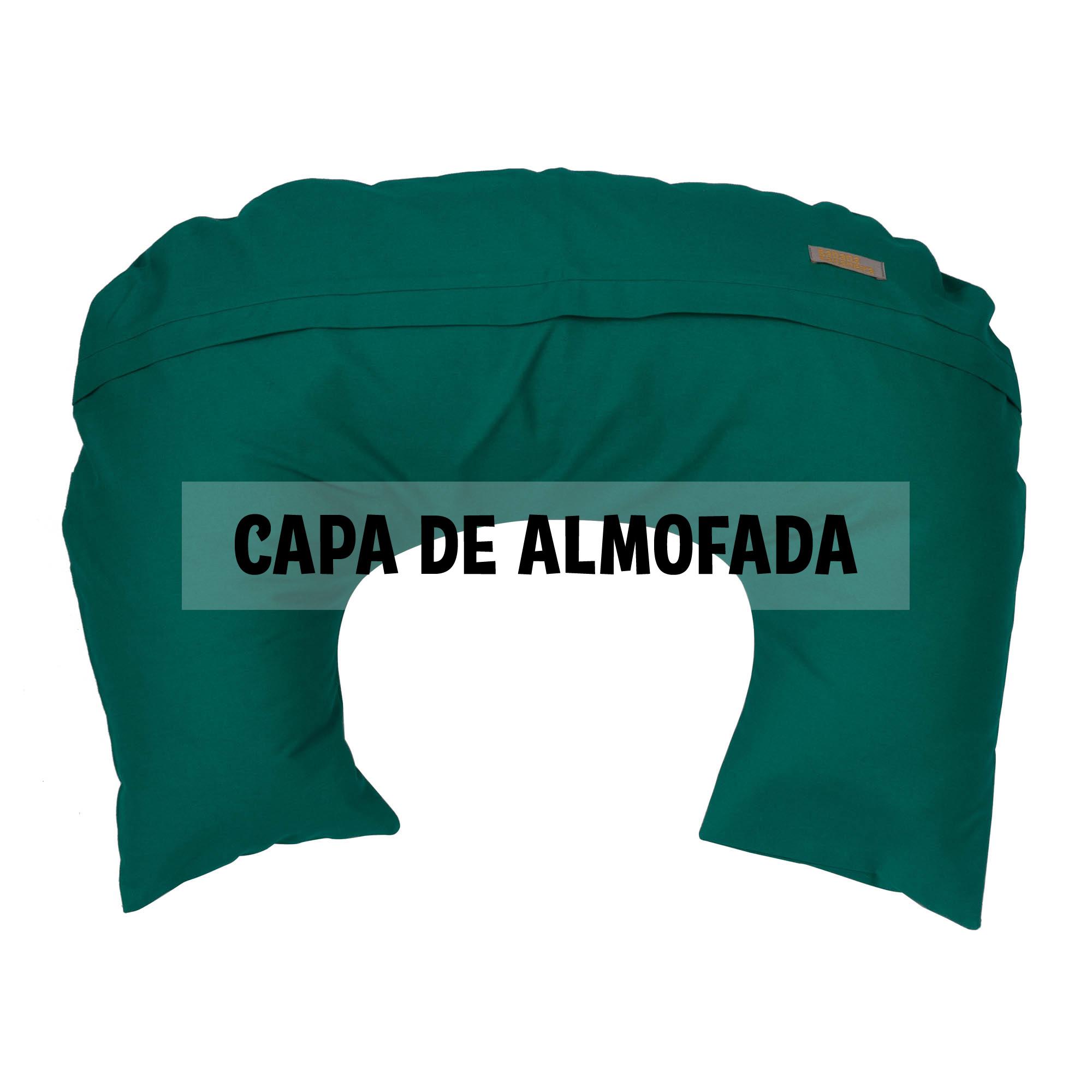 Capa de almofada de amamentação verde esmeralda