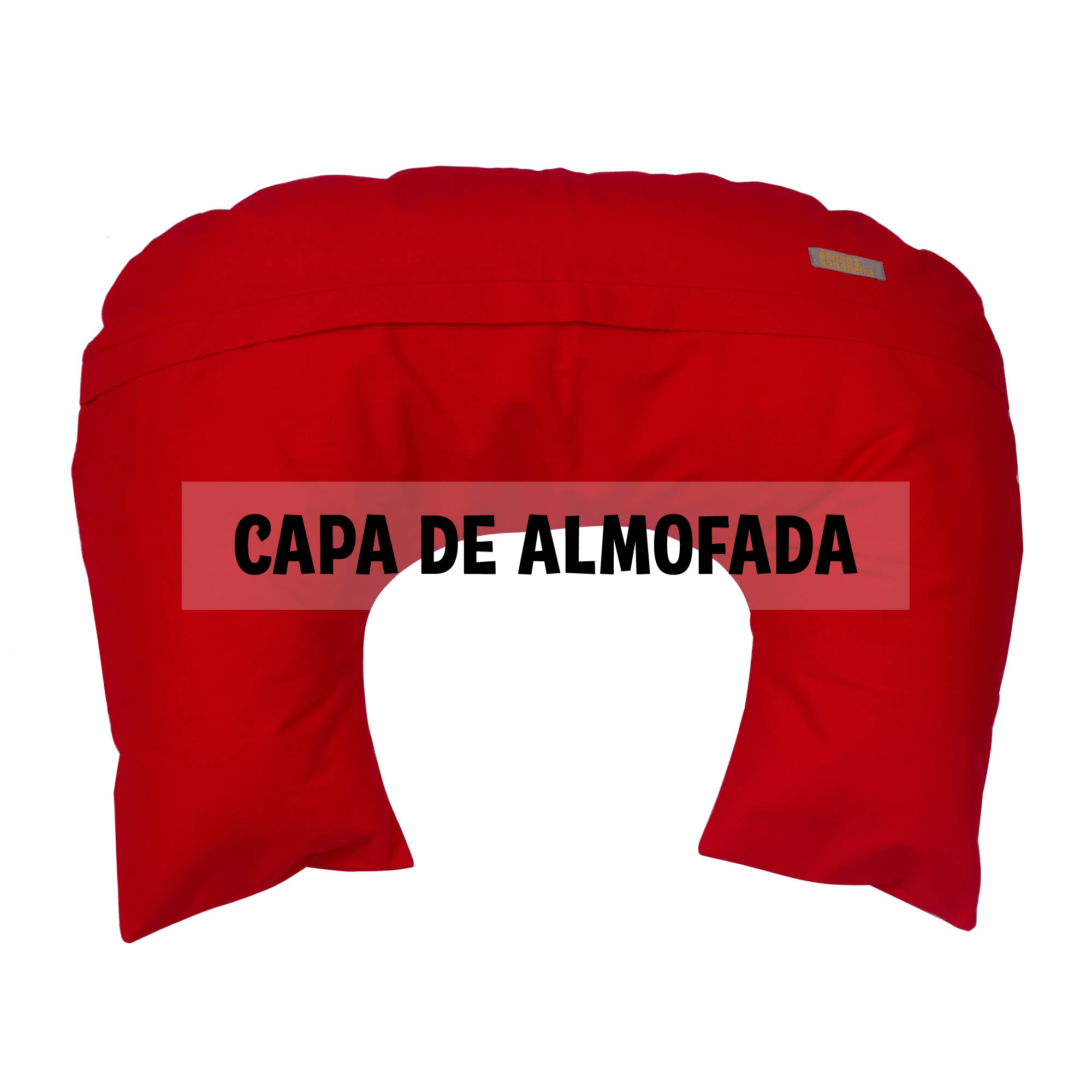 Capa de almofada de amamentação vermelho