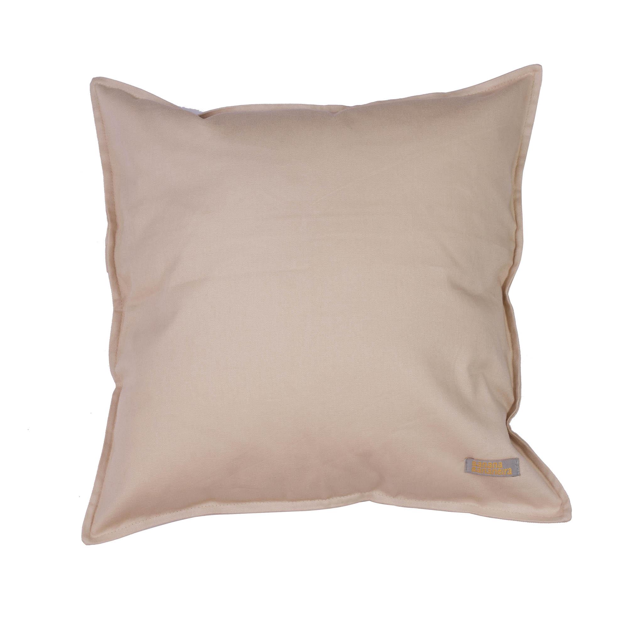 Capa de almofada em pesponto 45 cm x 45 cm areia