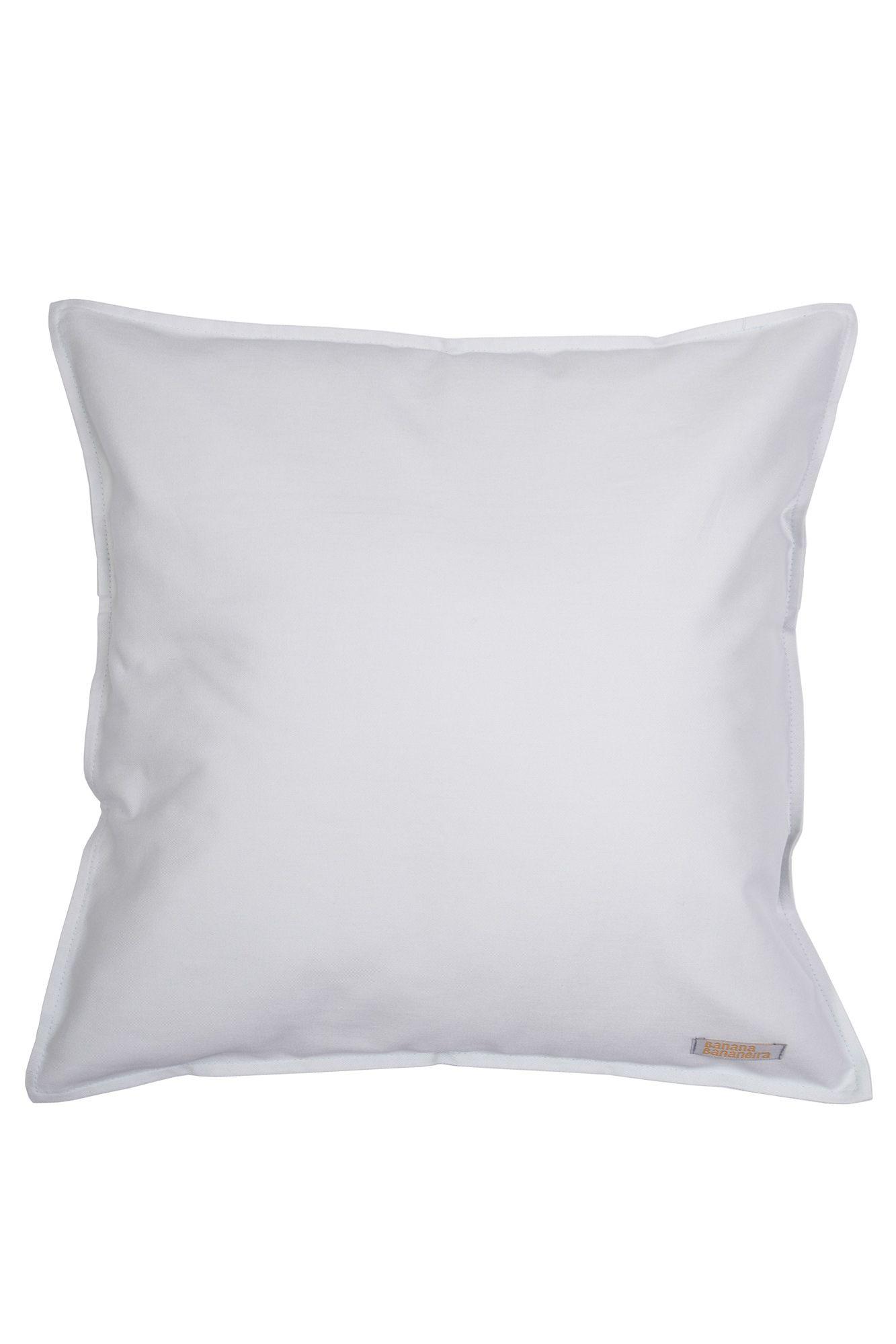 Capa de almofada em pesponto 45 cm x 45 cm azul claro