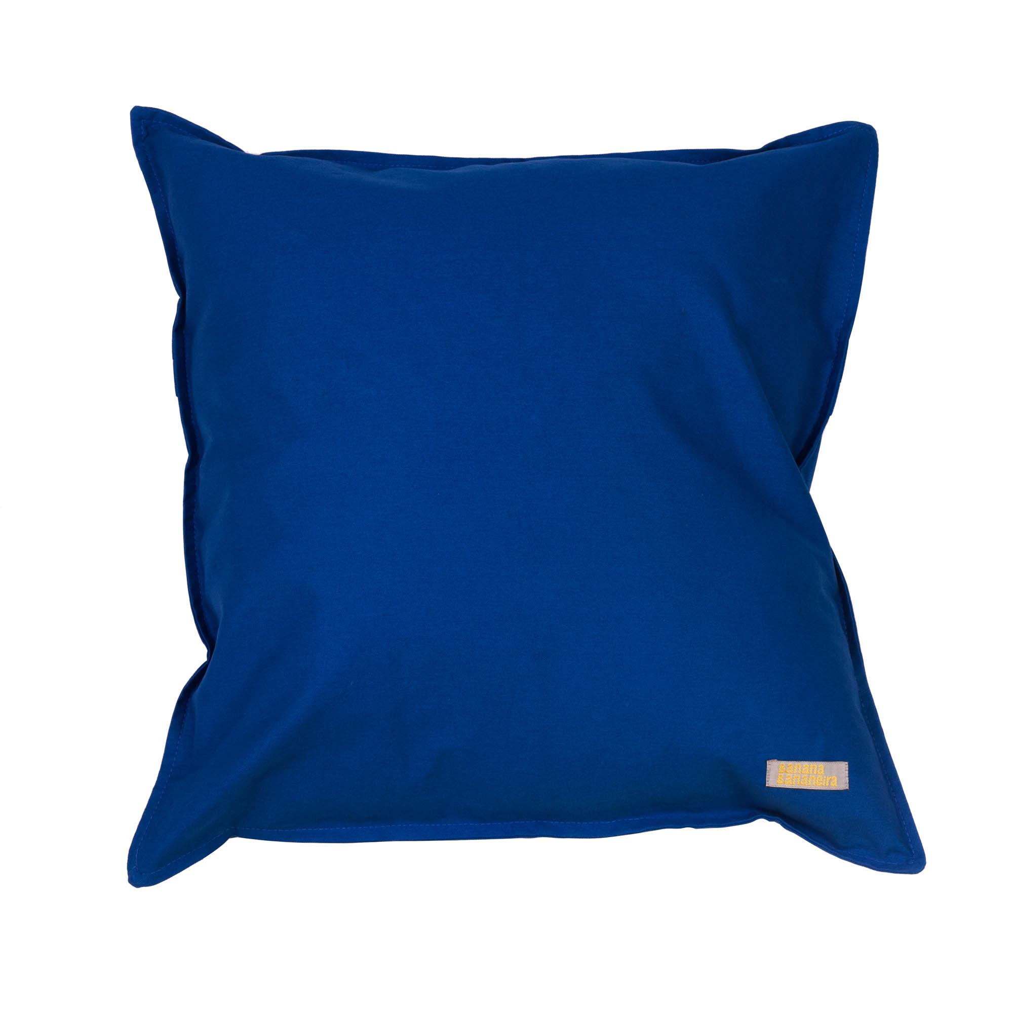 Capa de almofada em pesponto 45 cm x 45 cm azul clássico