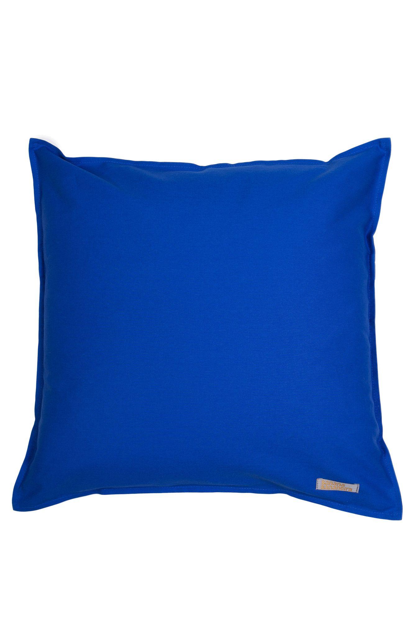 Capa de almofada em pesponto 45 cm x 45 cm azul royal