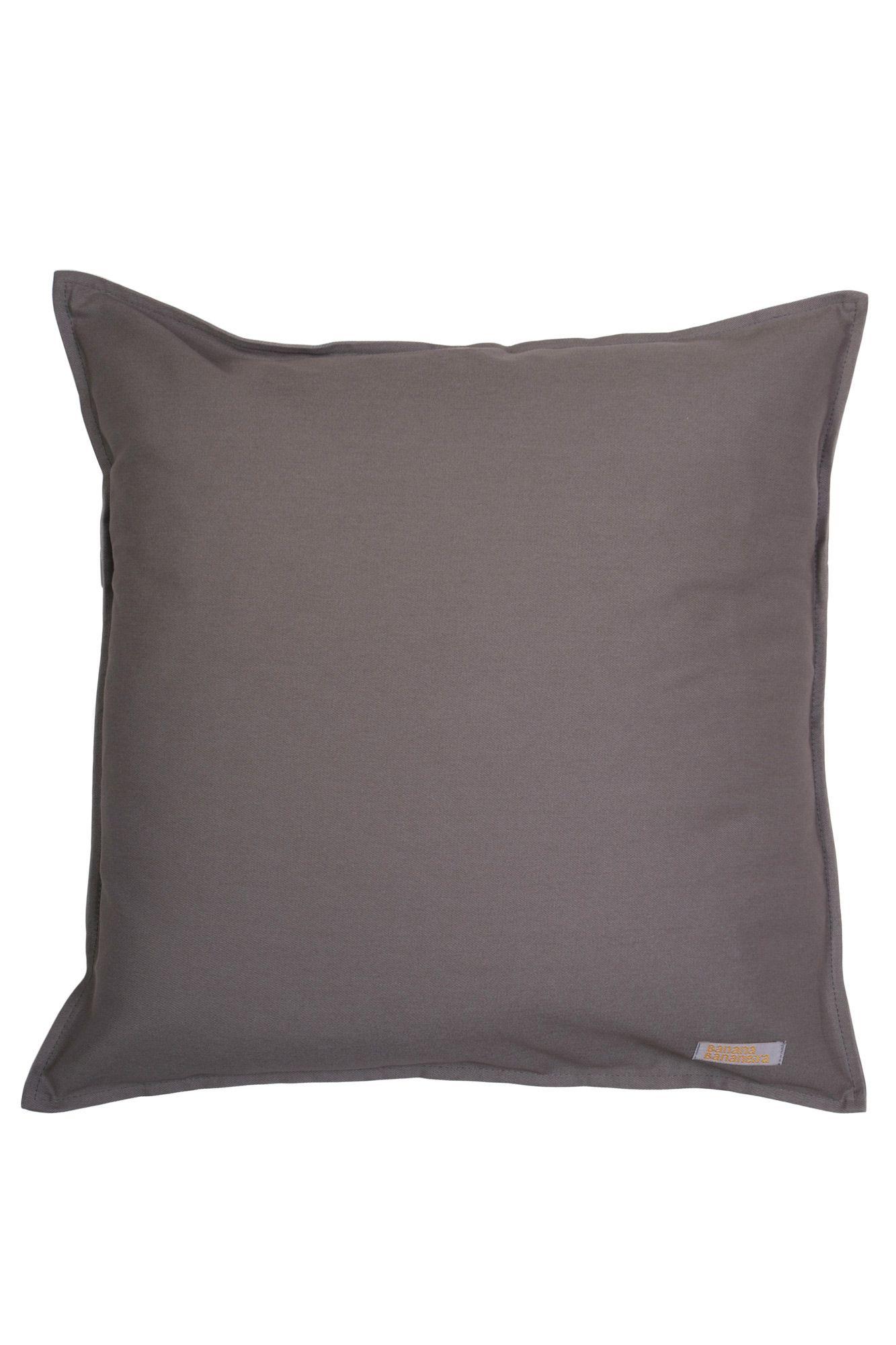 Capa de almofada em pesponto 45 cm x 45 cm cinza