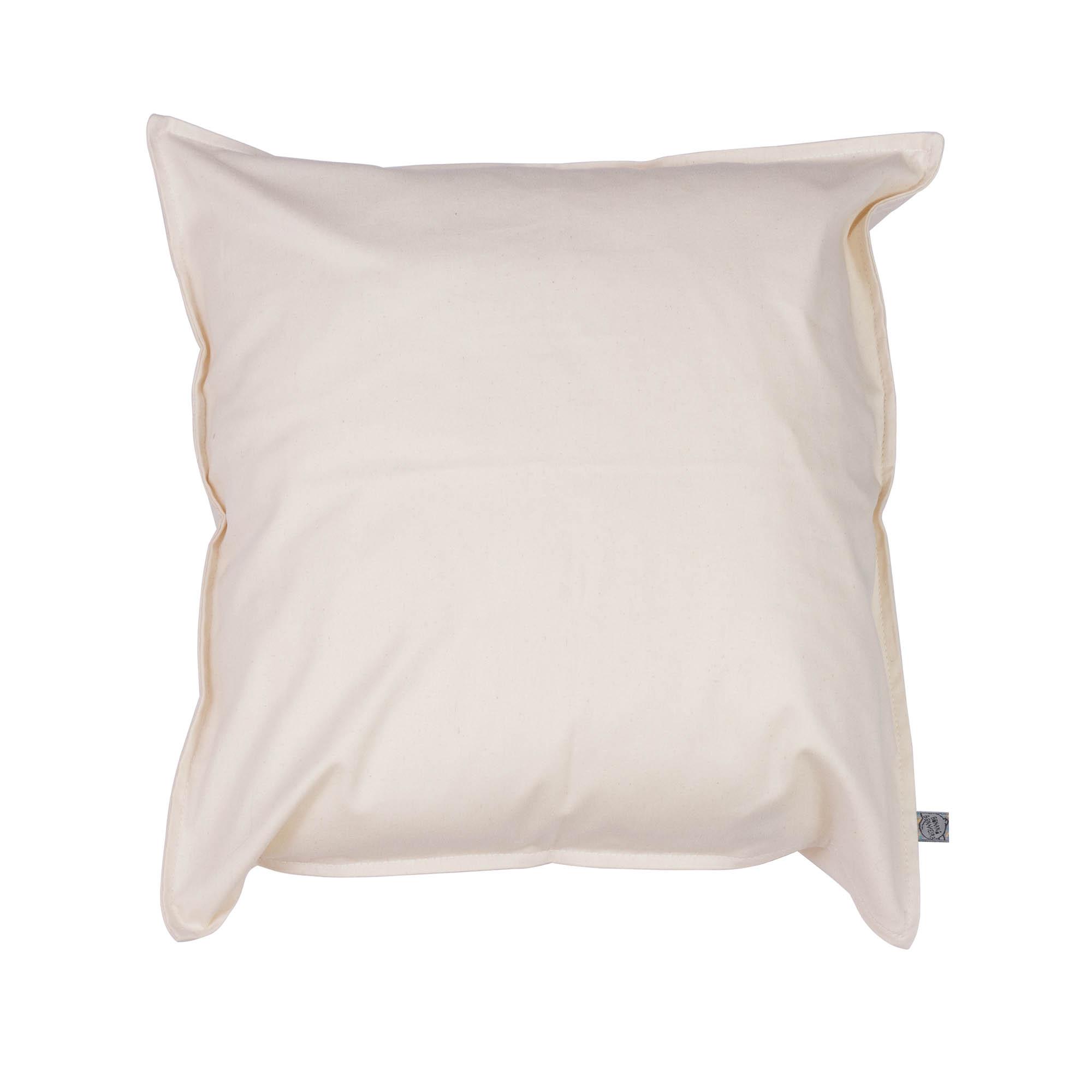 Capa de almofada em pesponto 45 cm x 45 cm cru