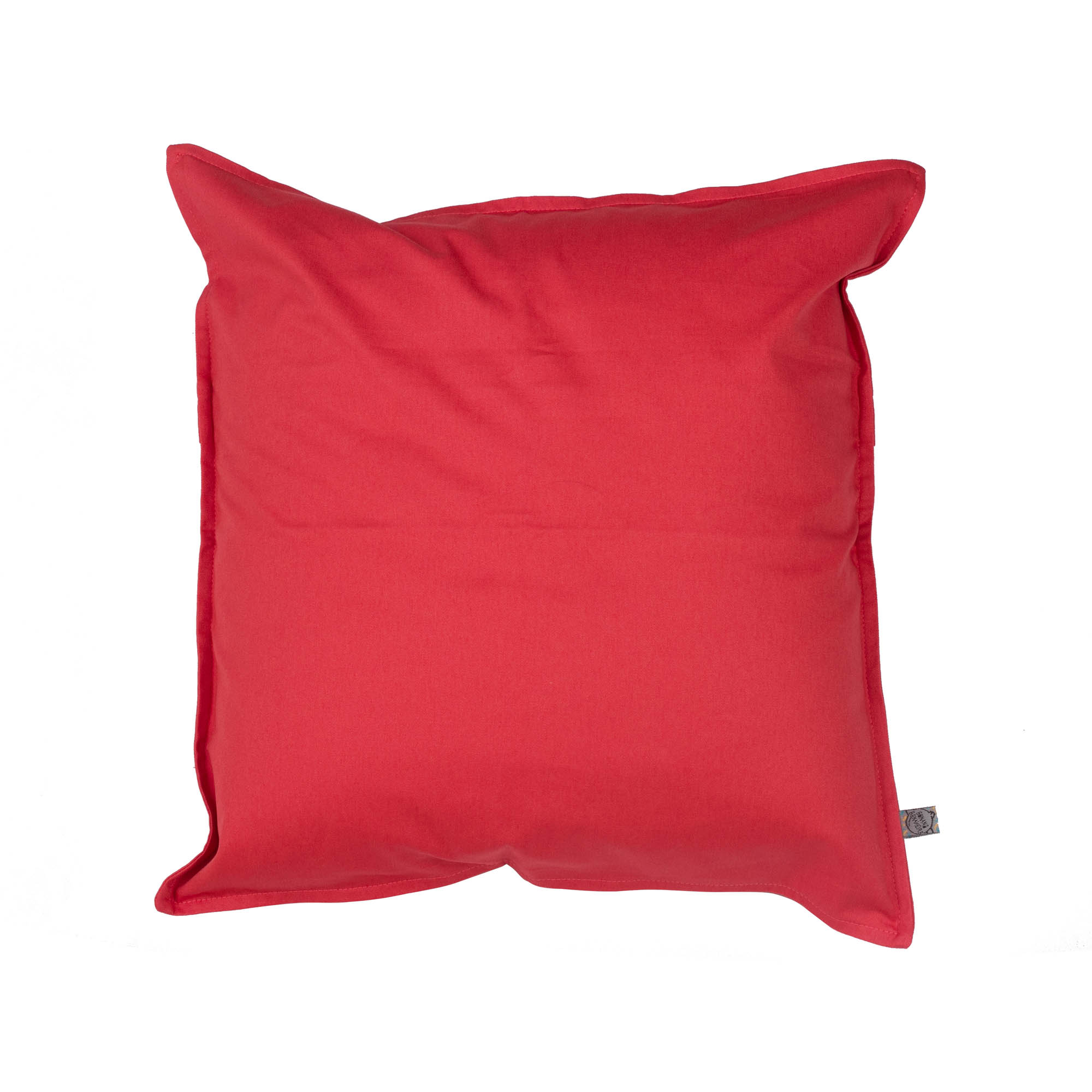 Capa de almofada em pesponto 45 cm x 45 cm goiaba