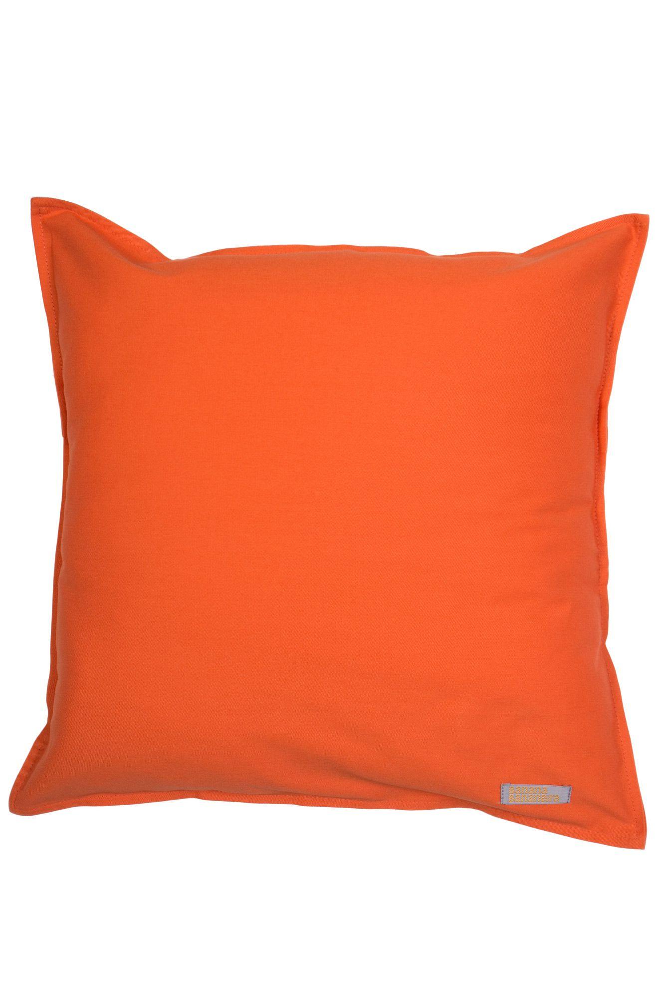 Capa de almofada em pesponto 45 cm x 45 cm laranja